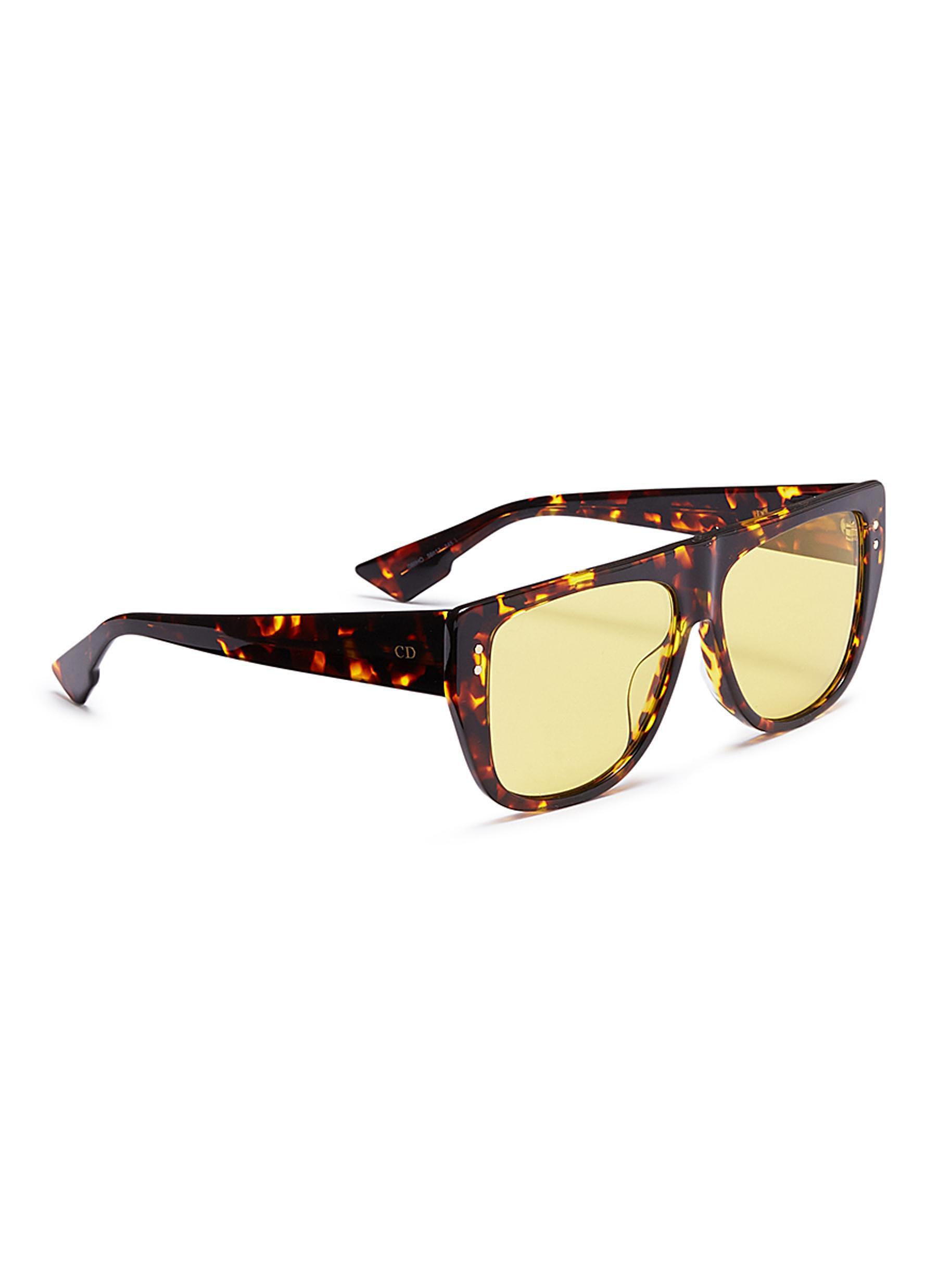 83e03ff586 Dior - Yellow   Club 2  Detachable Visor Acetate D-frame Sunglasses - Lyst.  View fullscreen