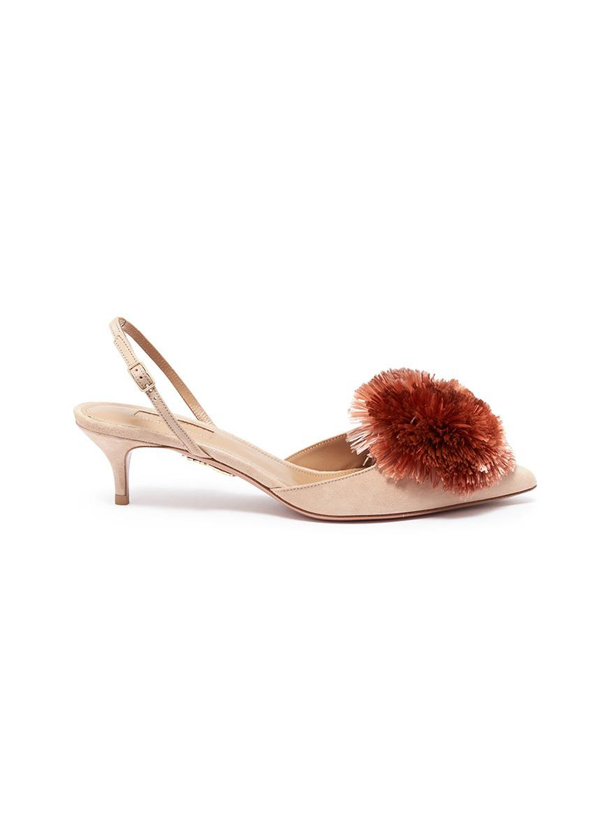 9d645abe306 Gallery. Previously sold at  Lane Crawford · Women s Aquazzura Powder Puff  Women s Gold Pumps ...