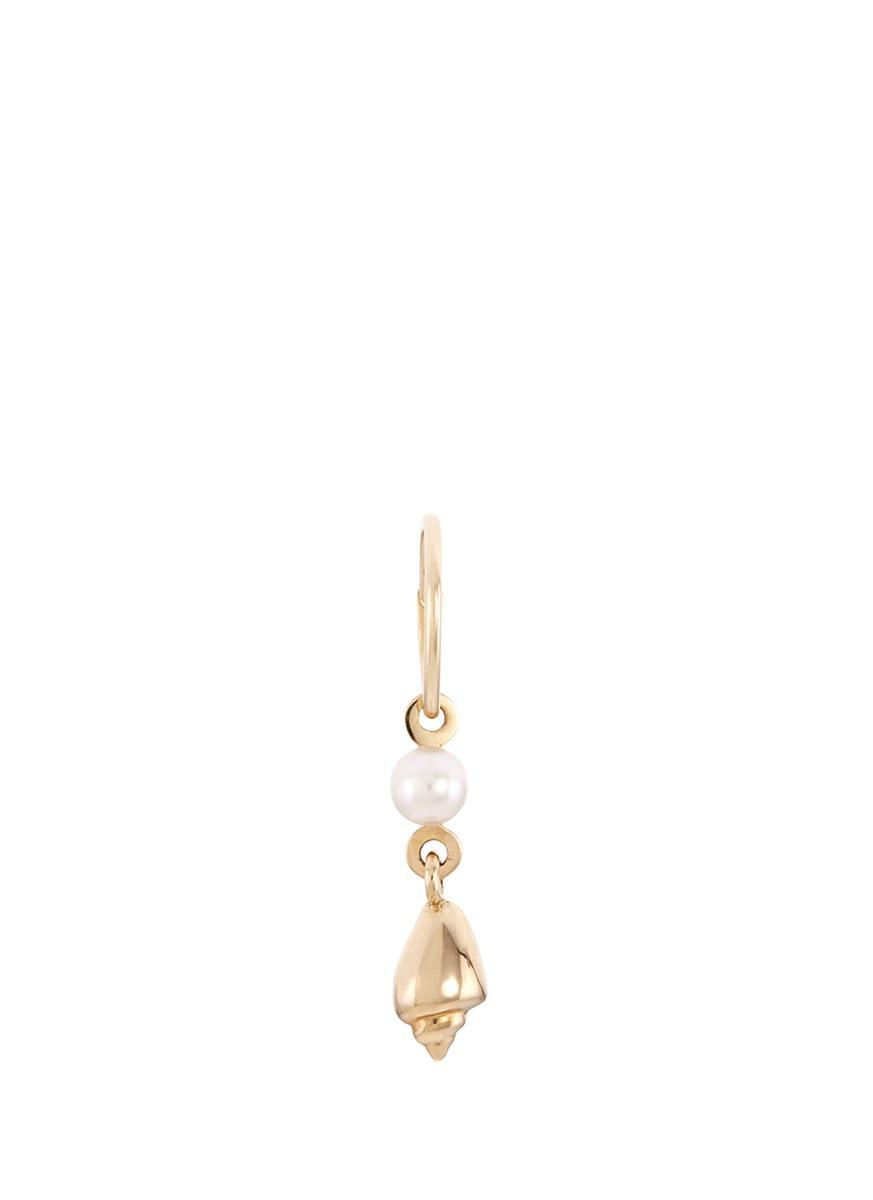 Babylon Perle 14kt gold and pearl single earring Sophie Bille Brahe eB8w7UfIm