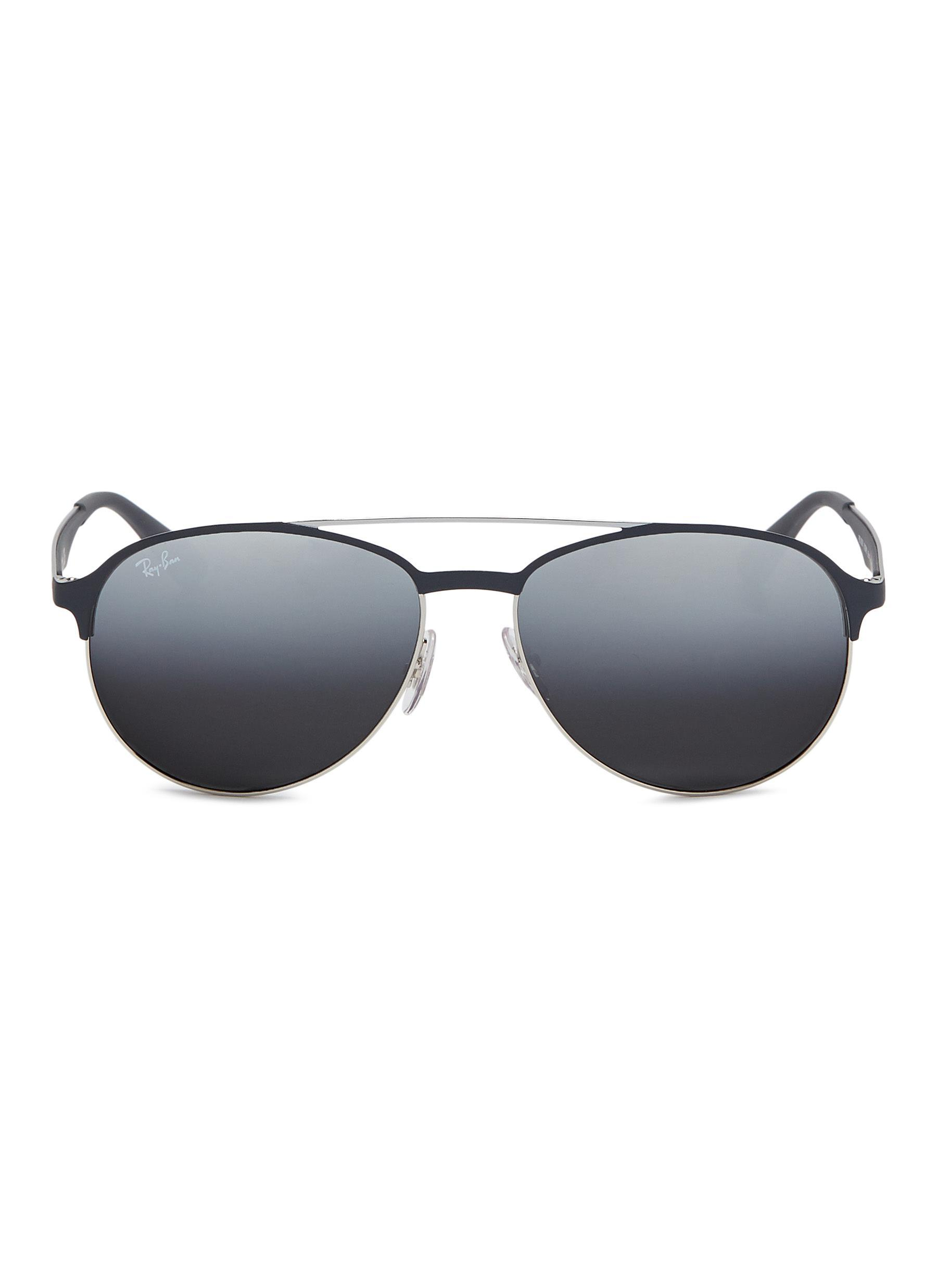 66311ae0f6 ... coupon code for lyst ray ban rb3606 mirror metal aviator sunglasses in  gray for men 79a19