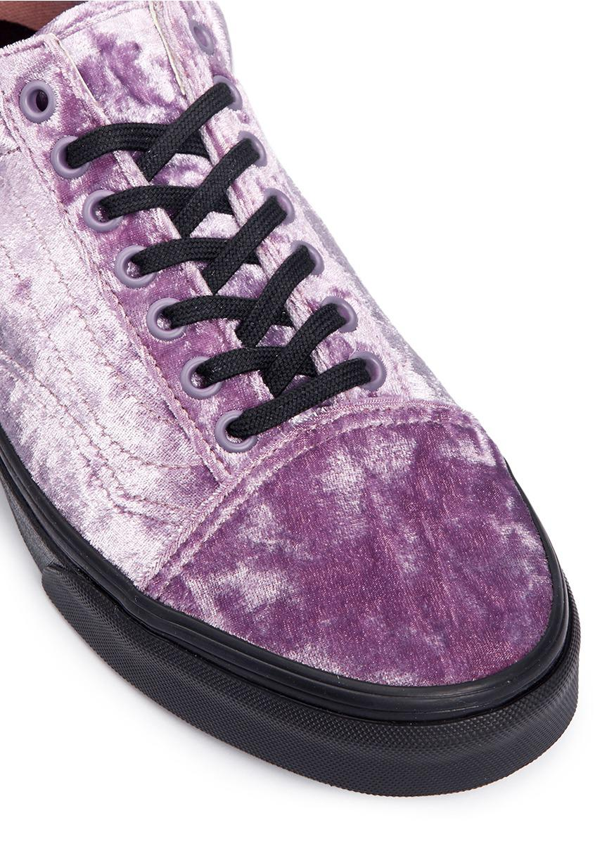 2bf3fde22ec7 Lyst - Vans  old Skool  Velvet Flatform Unisex Sneakers in Purple