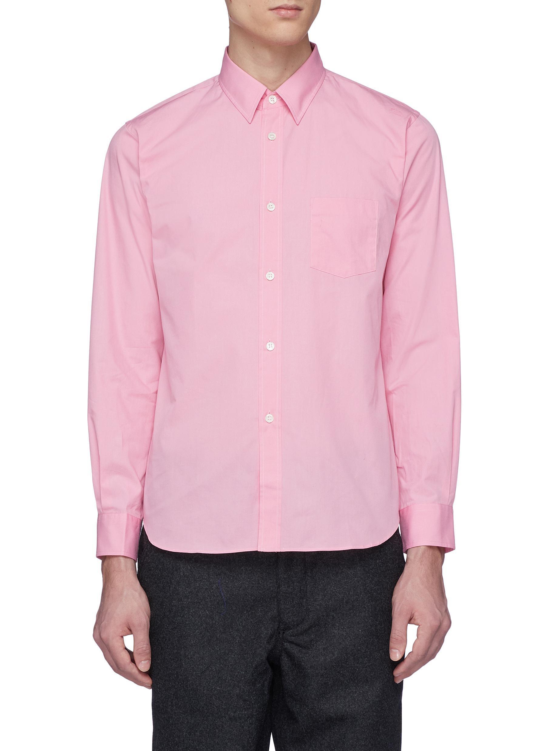 Lyst Comme Des Garons Boys Slogan Logo Print Shirt In Pink For Men