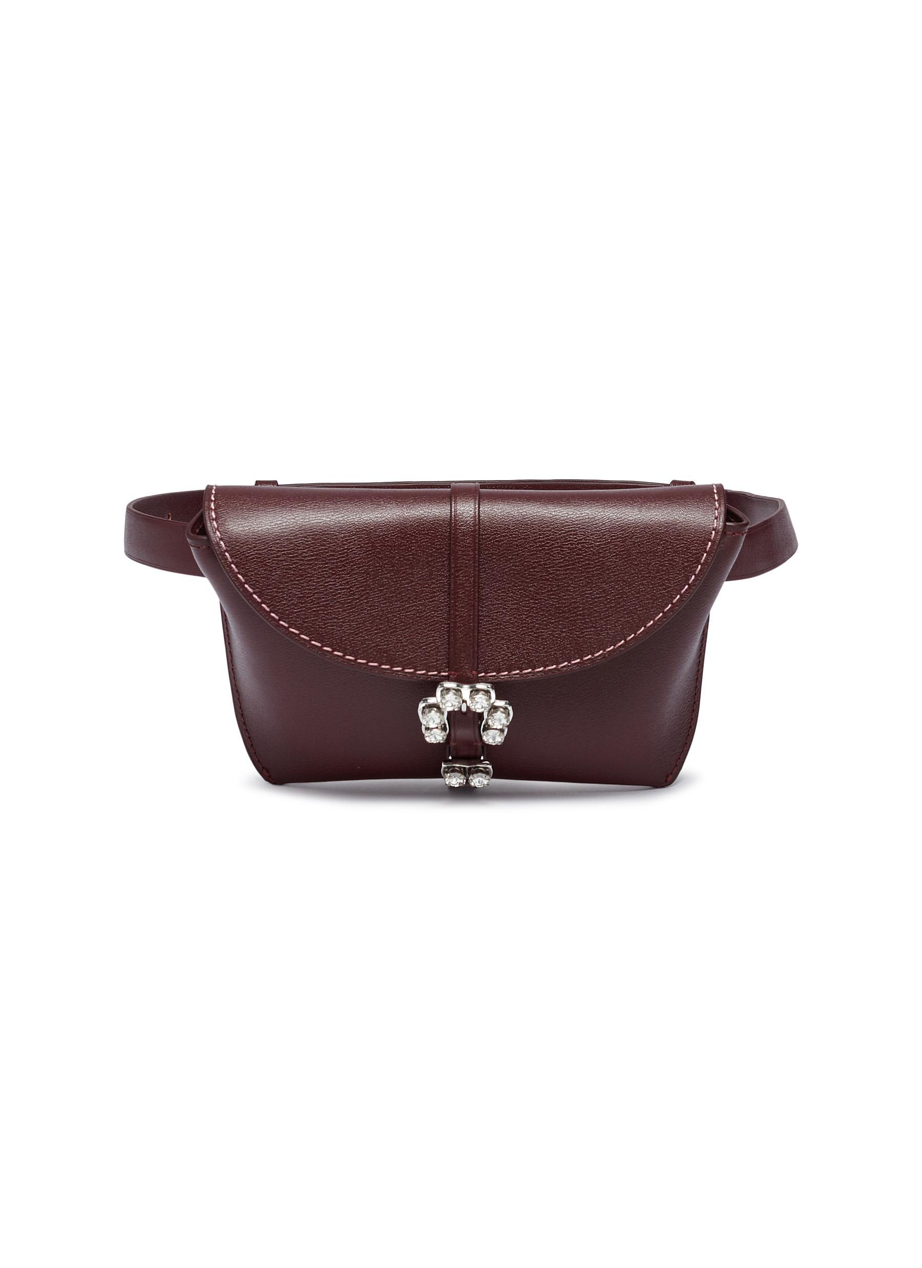 32a396944af7 Lyst - 3.1 Phillip Lim  hudson  Jewelled Buckle Leather Bum Bag