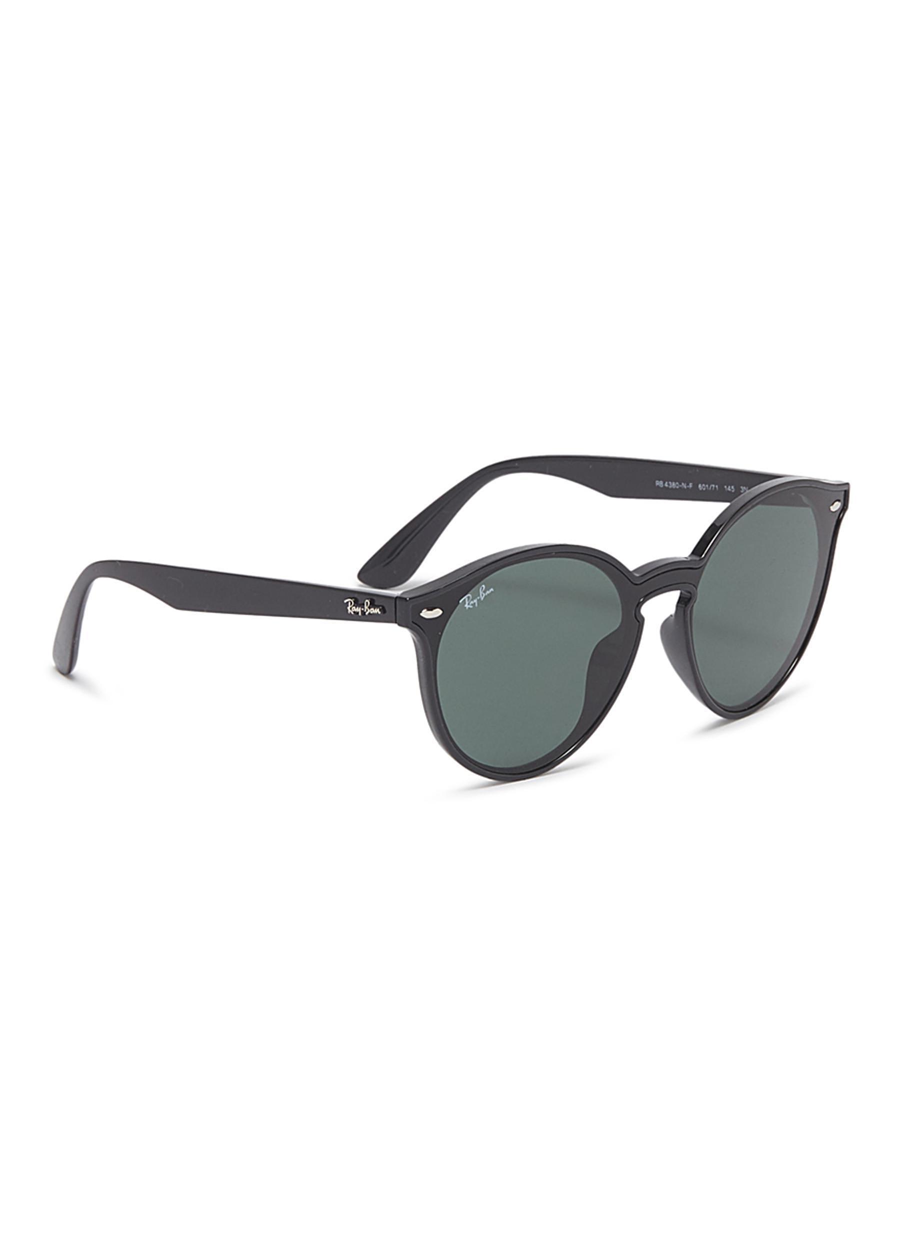 a23a90f45ba2ed Lyst - Ray-Ban  blaze  Acetate Round Sunglasses in Black