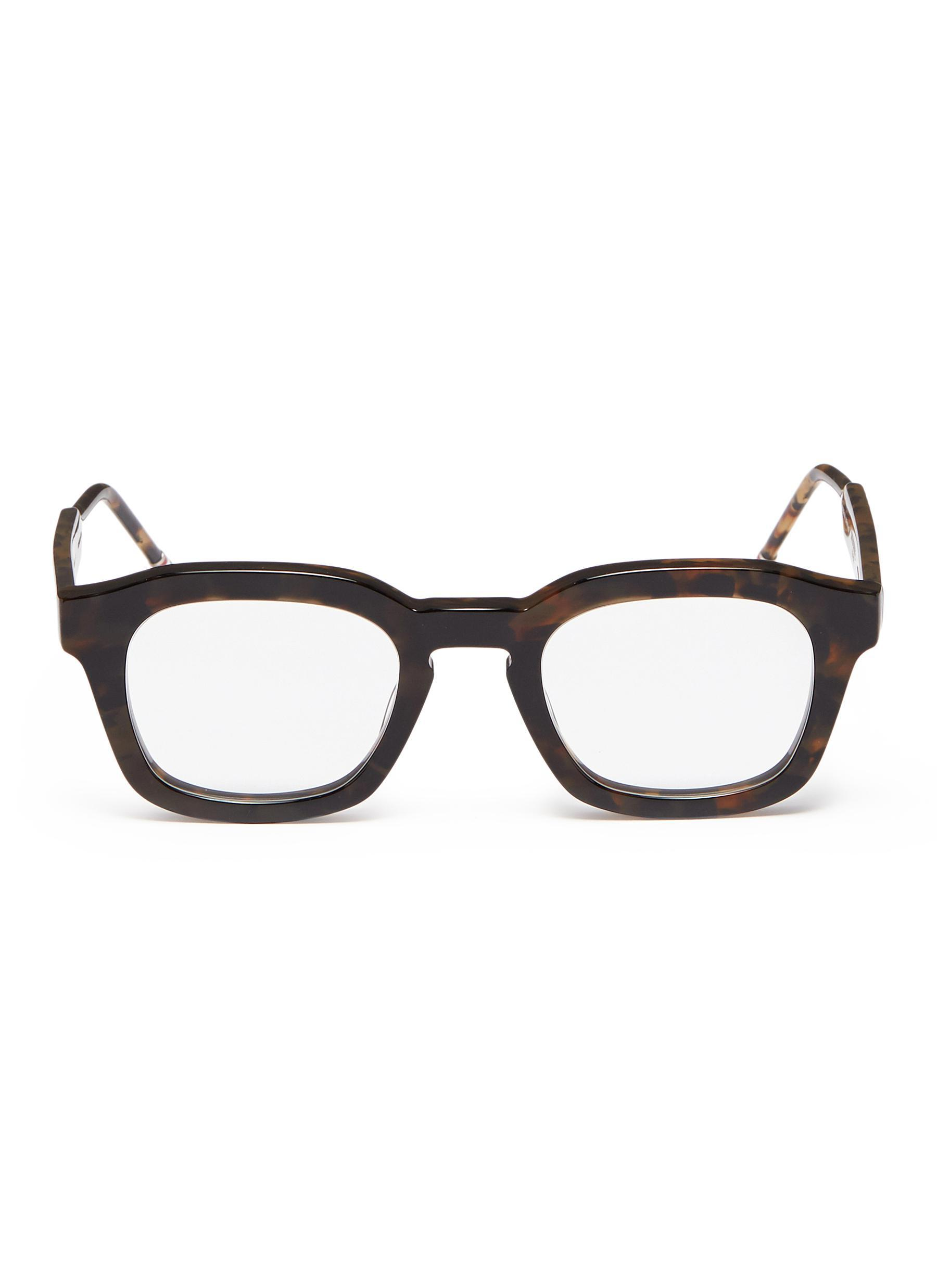 135d797ac9 Thom Browne. Men s Brown  tokyo  Tortoiseshell Acetate Square Optical  Glasses
