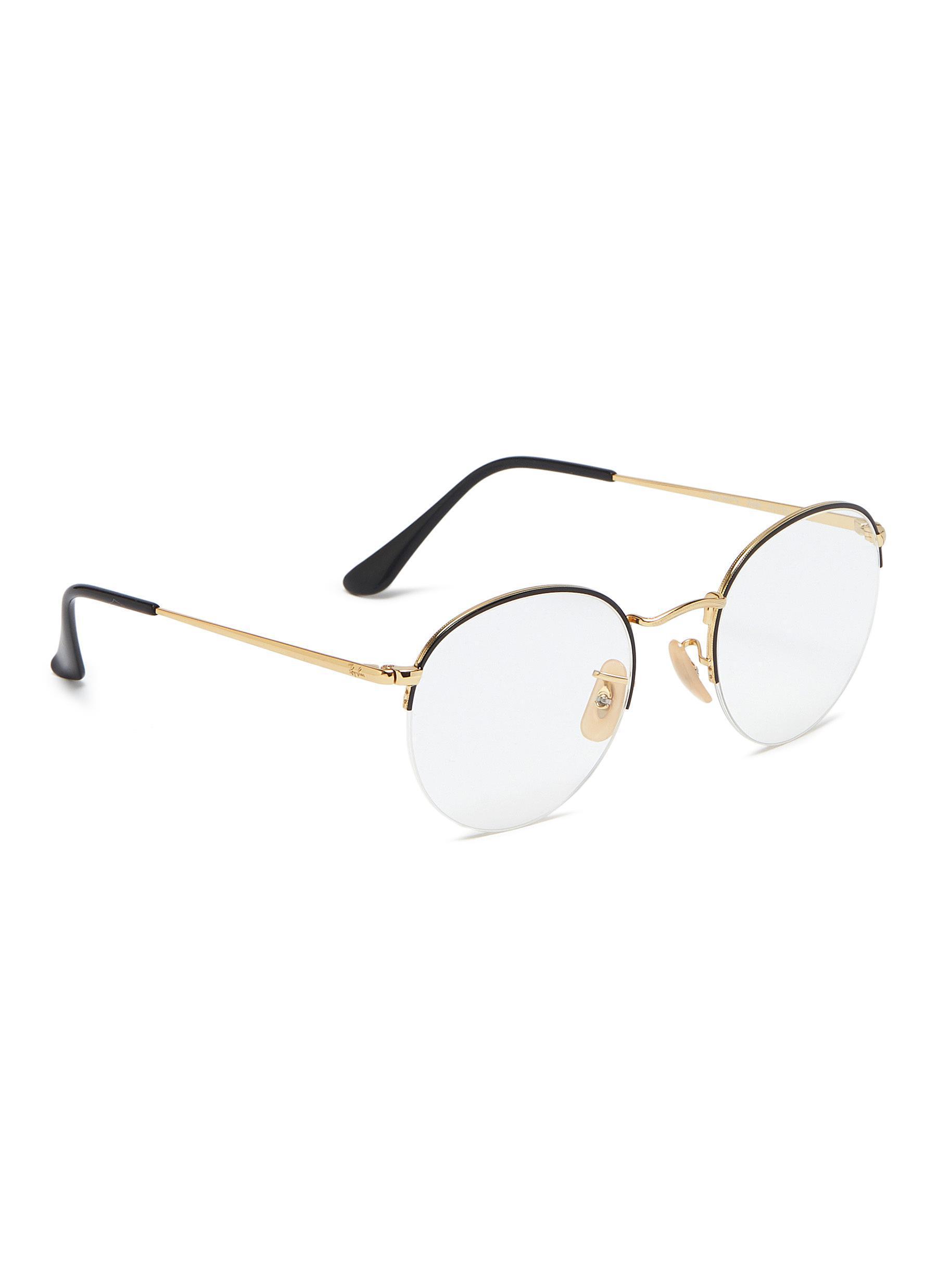 e76780ff03 Ray-Ban - Metallic  gaze  Metal Round Optical Glasses - Lyst. View  fullscreen