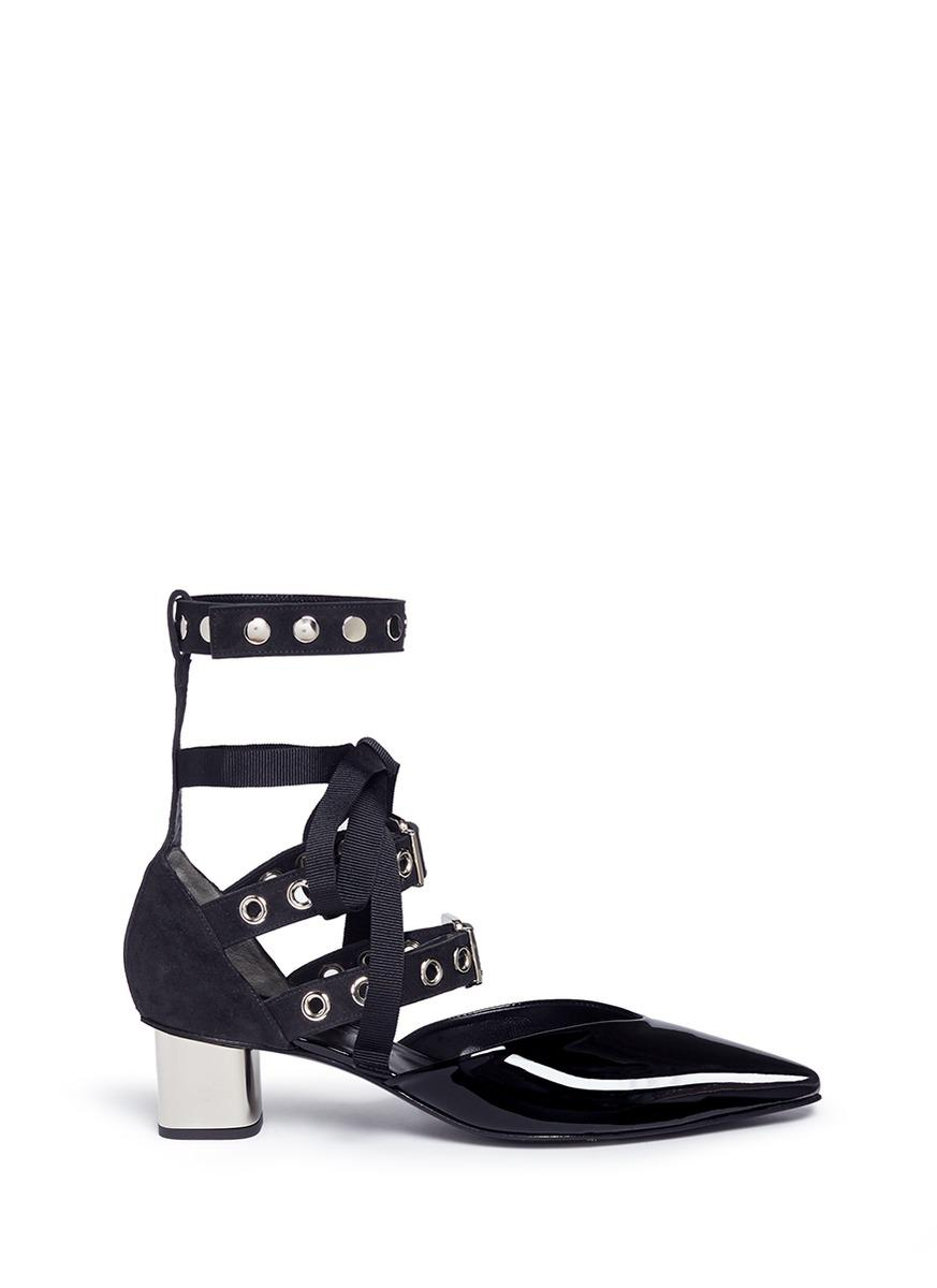 prices sale online Robert Clergerie x Self-Portrait Patent Leather Grommet Pumps cheap latest collections cheap sale newest YE7bXbmxRT