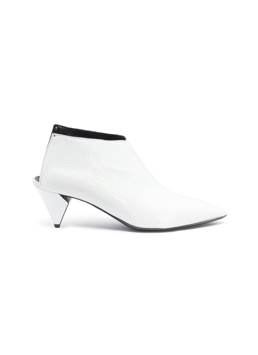 White Patent Mule Boots Alumnae bpPrn5Y2u