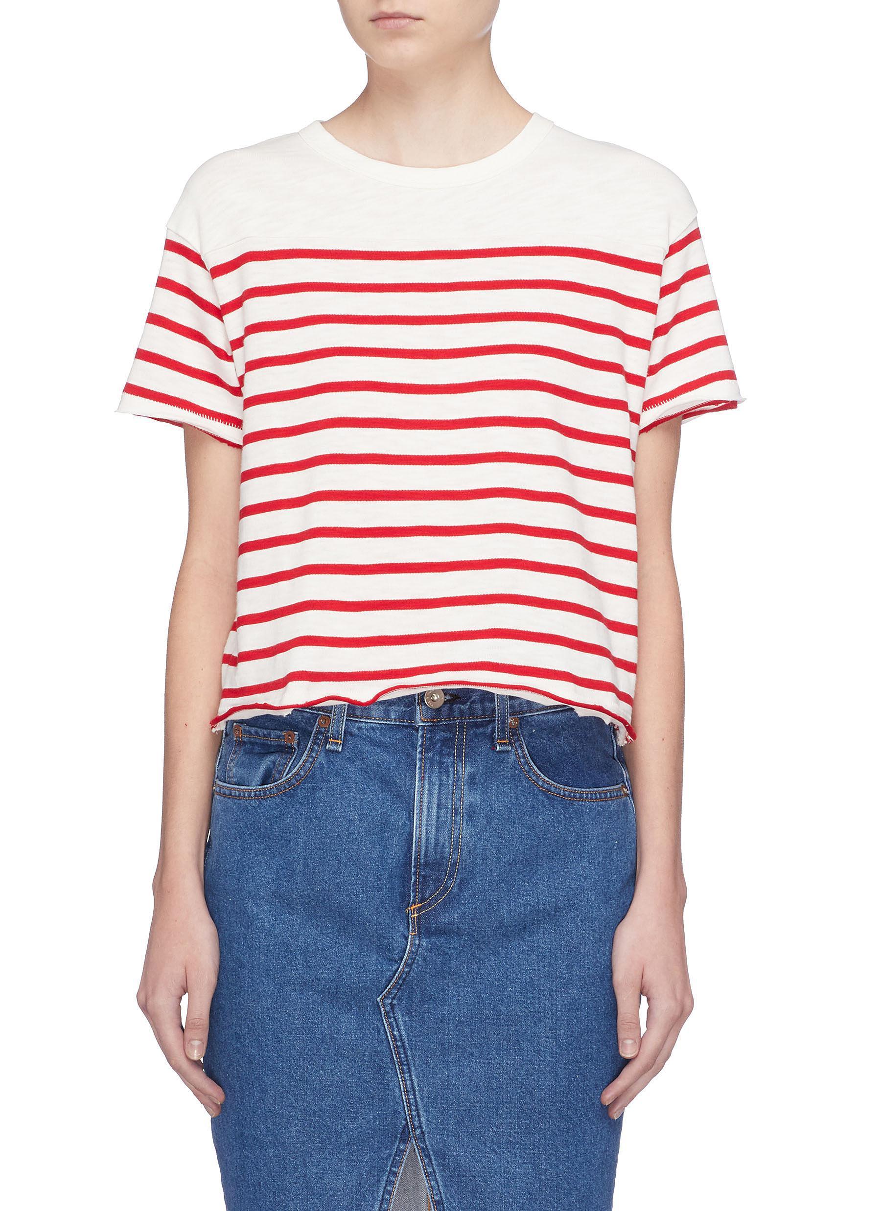 77f95353c4 Rag & Bone 'halsey' Stripe T-shirt - Lyst