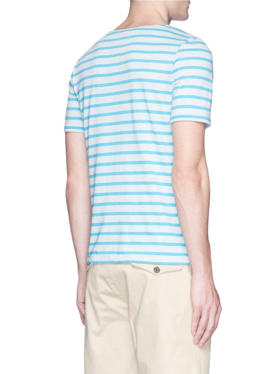 Lyst saint james 39 levant moderne 39 breton stripe t shirt for St james striped shirt