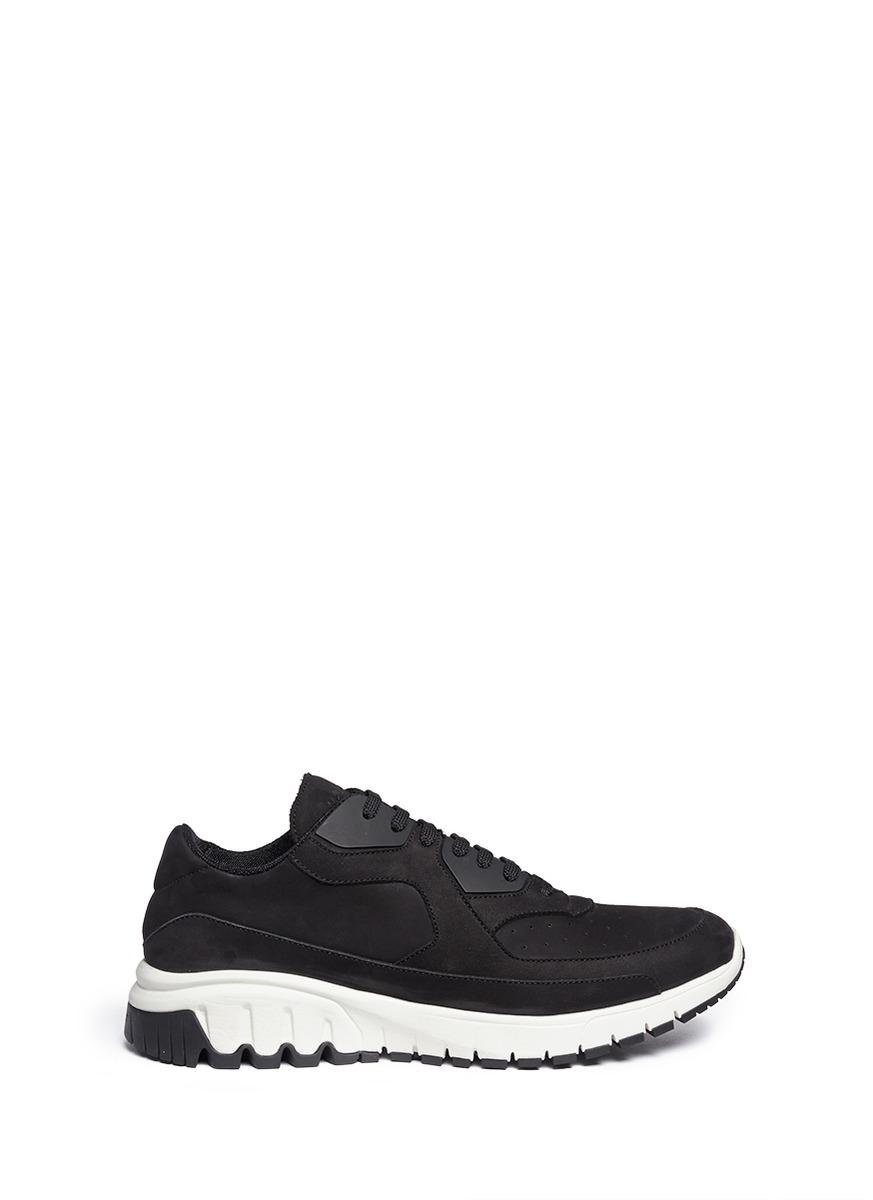 Neil barrett 'urban Runner' Nubuck Leather Sneakers in ...