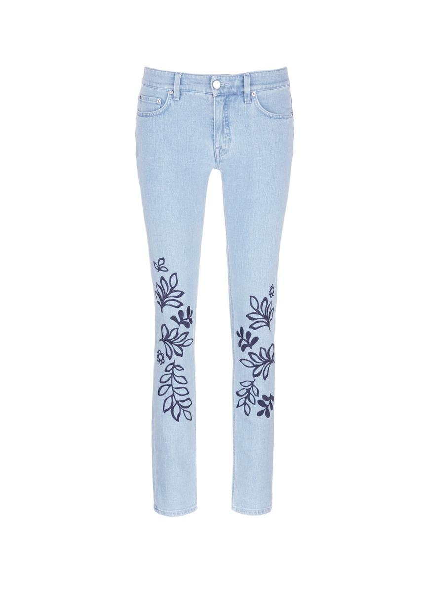 Victoria beckham alt floral embroidered washed