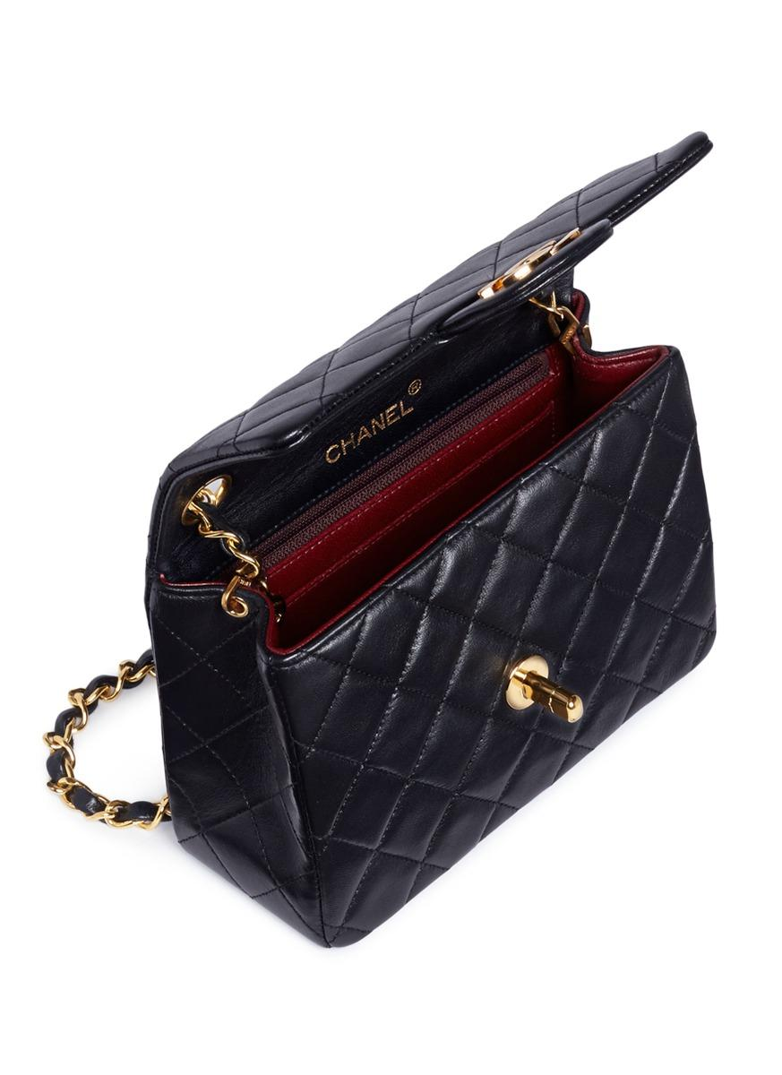 72ad0bc96ddc Chanel Black Quilted Lambskin Leather Mini Flap Bag | Stanford ...