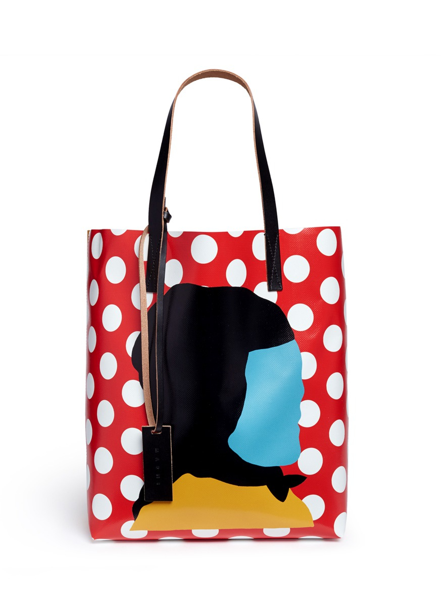 2275f3f63c Lyst - Marni Ekta Print Shopping Tote Bag in Red
