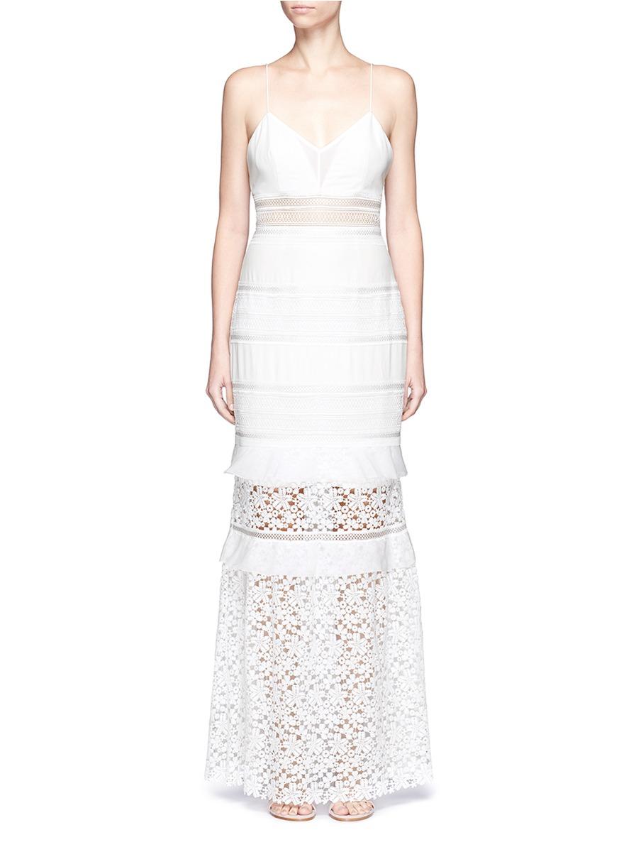 Self portrait peony bridal dress in white save 40 lyst for Self portrait wedding dress