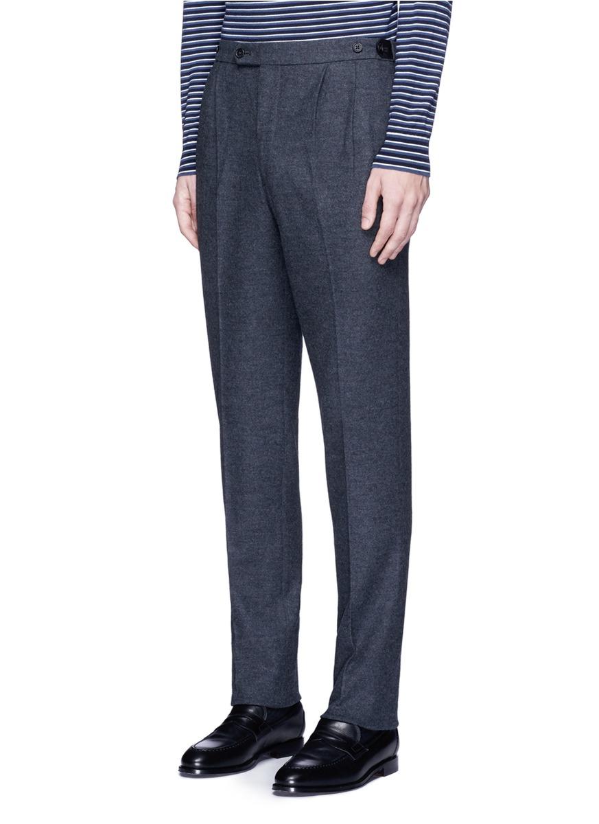 Lyst Camoshita Double Pleated Side Adjuster Wool Pants