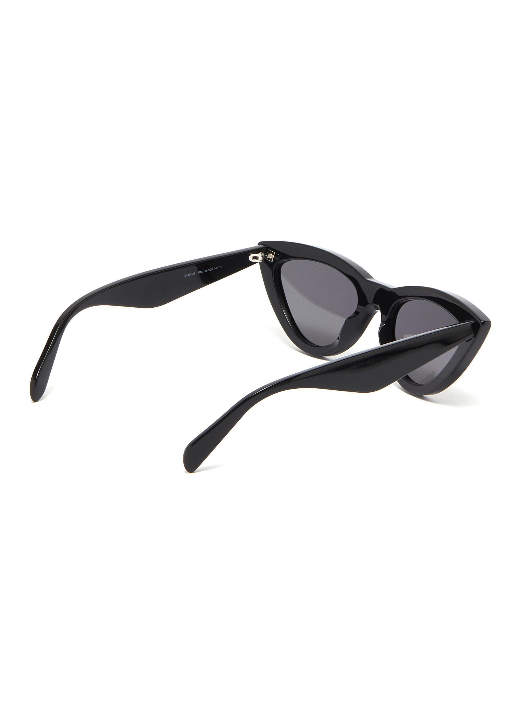 1de3d3346f71 Céline - Black Strass Rim Acetate Cat Eye Sunglasses - Lyst. View fullscreen