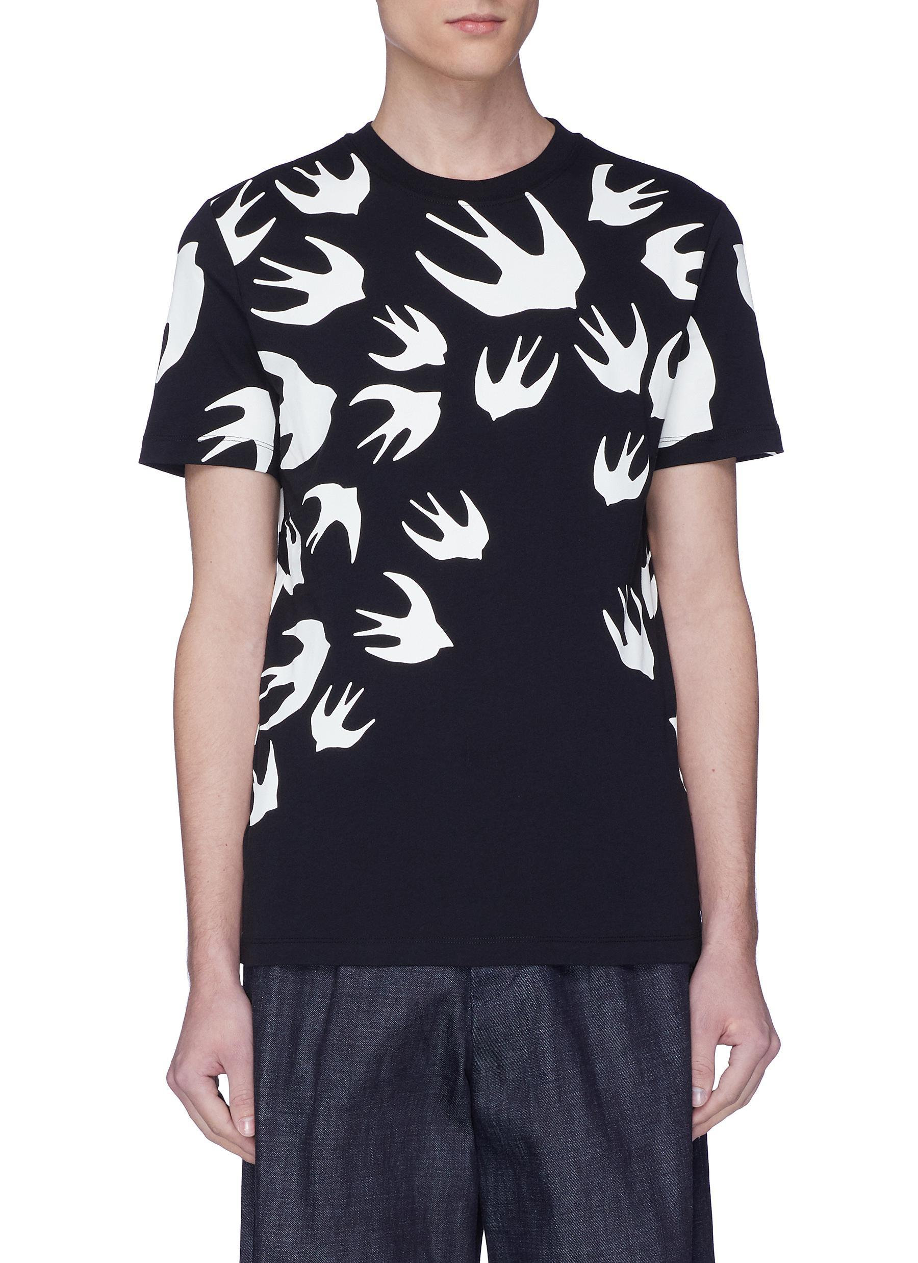 low priced cdf67 d3765 mcq-Multi-colour-Swallow-Print-T-shirt.jpeg