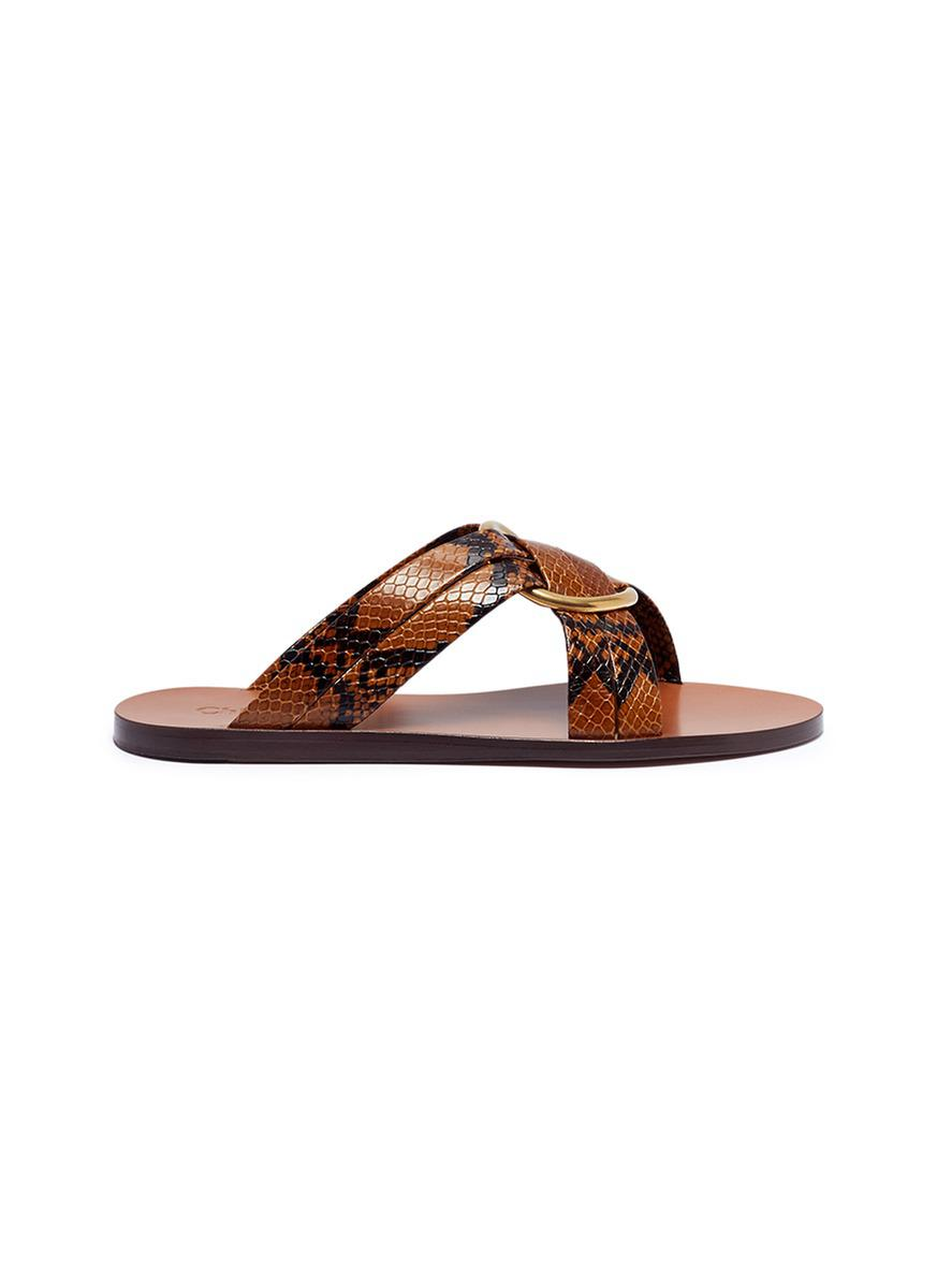 Chloé Embellished leather slides cheap shop outlet footlocker clearance fashionable footlocker pictures really cheap Crh3hQb1a