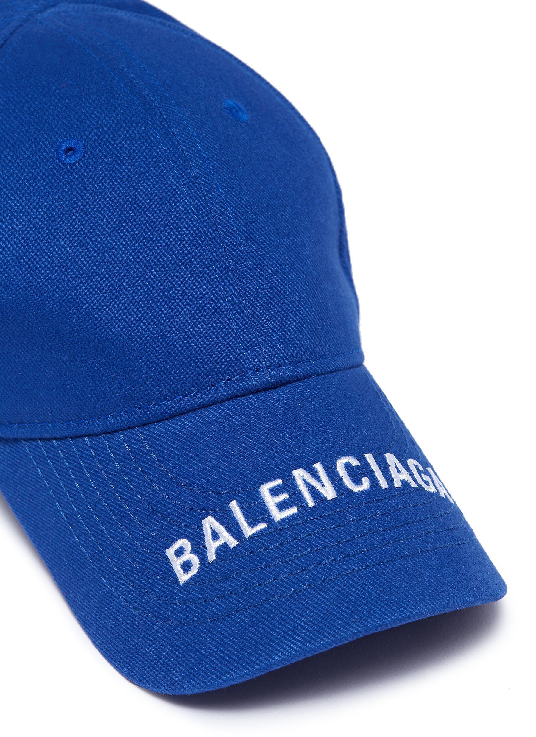 af3dadbf934 Lyst - Balenciaga  everyday  Logo Embroidered Visor Baseball Cap in ...