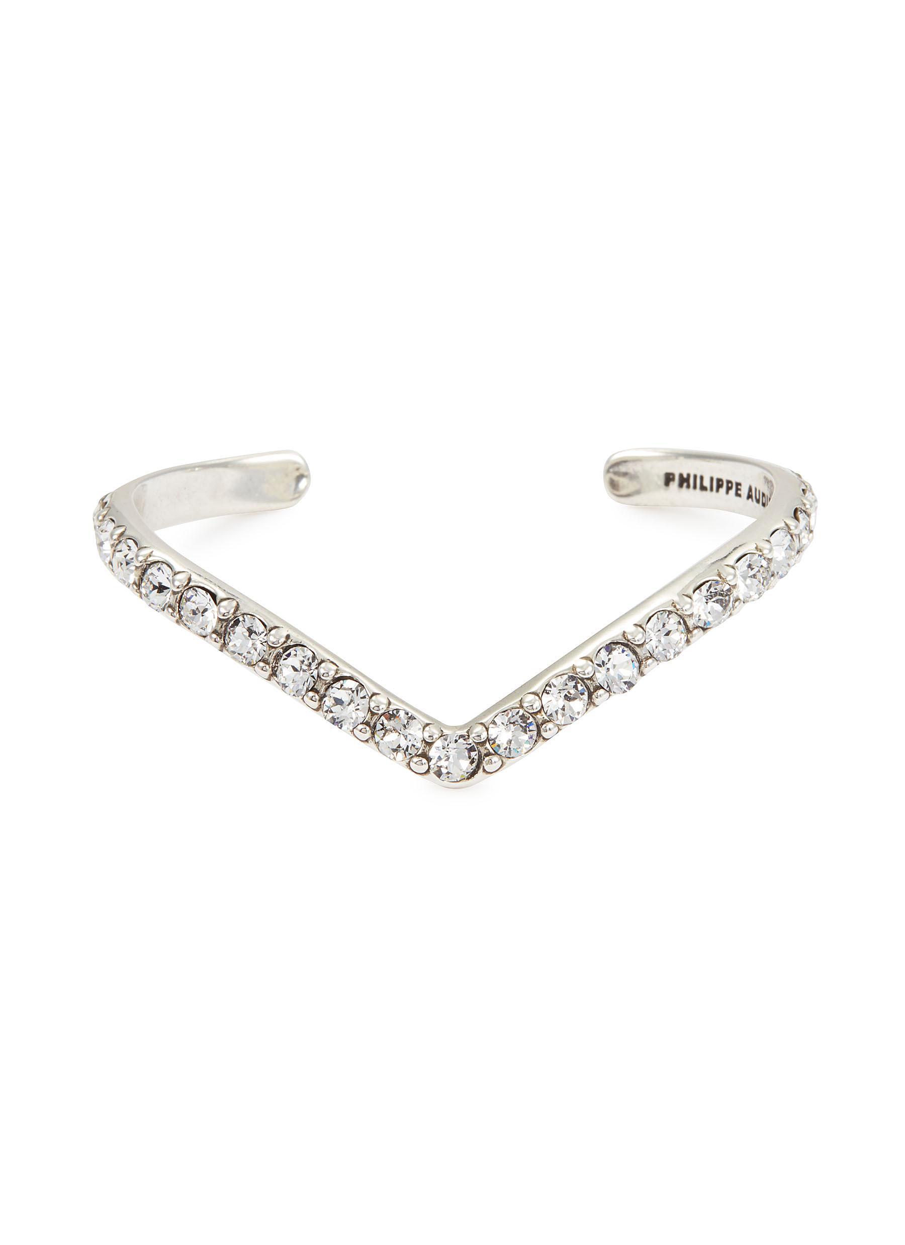 32afbb054 Philippe Audibert 'bonnie' Swarovski Crystal V-shaped Cuff in ...