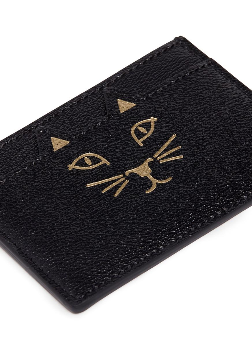 Black Feline Card Holder Charlotte Olympia blvZkkXM