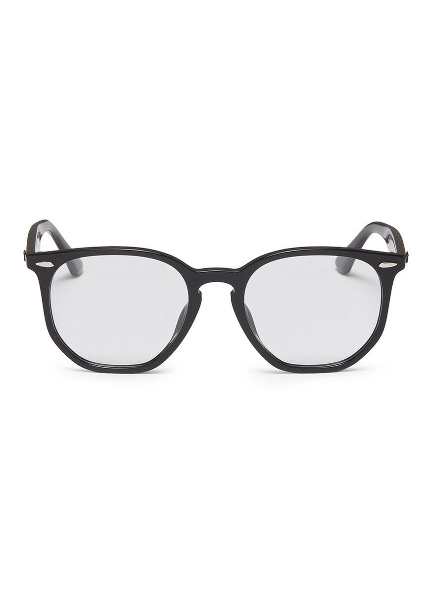 e66c14c773c06 ... coupon code for lyst ray ban rb7151f acetate hexagonal optical glasses  in black 35607 00ab3