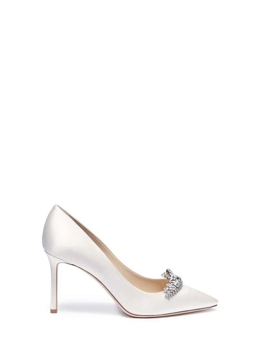 Get Authentic Cheap Price Jimmy choo Romy 85 satin pumps Outlet With Paypal Order Online Cheap Sale Discounts Sale Cost rTX4OEM