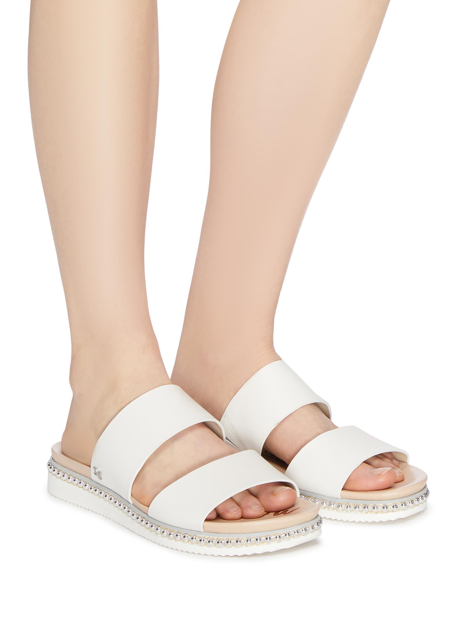 5161272e2814 Sam Edelman - Multicolor  asha  Stud Welt Leather Slide Sandals for Men -  Lyst. View fullscreen