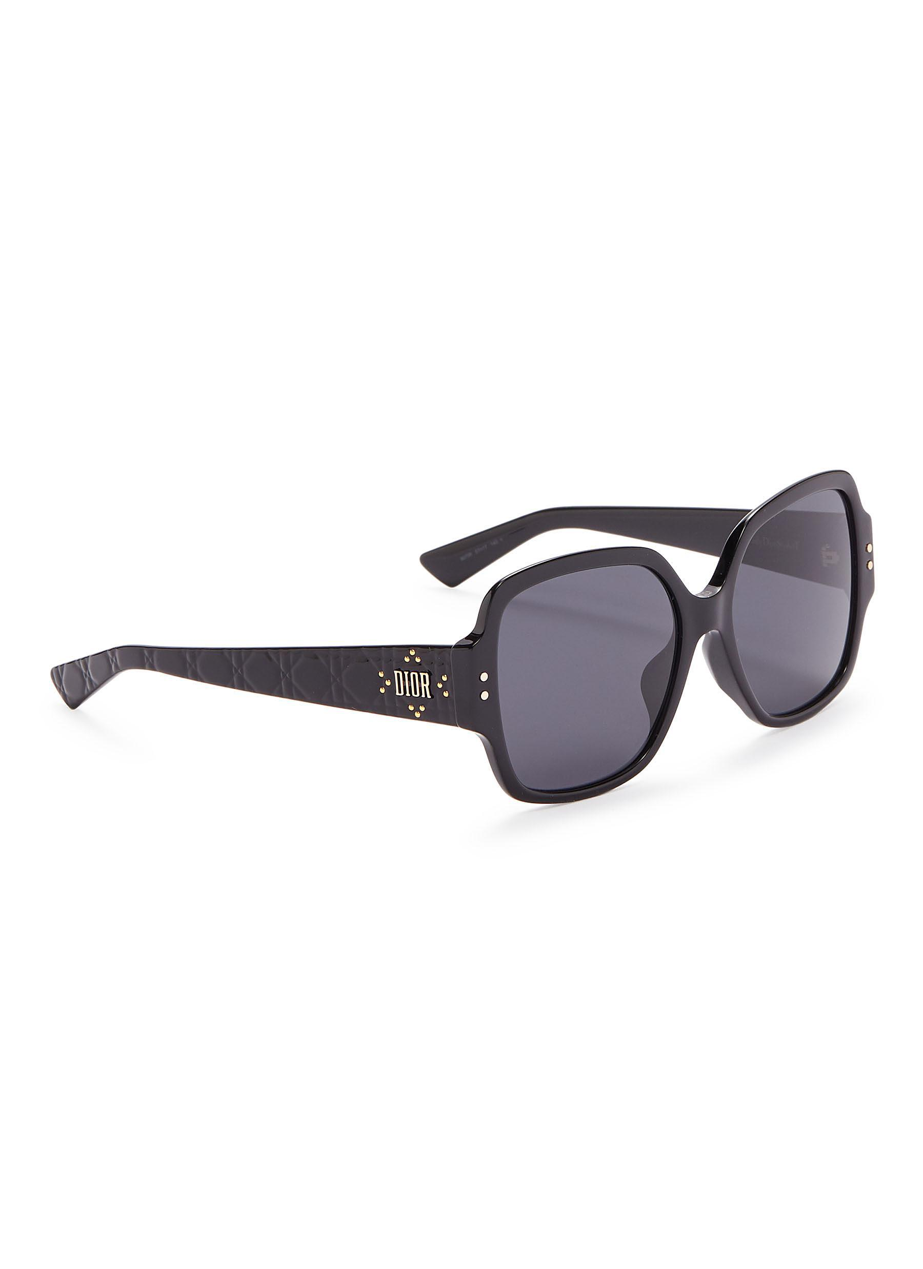 dd032f2ee08 Dior - Black  lady Studs  Acetate Square Sunglasses - Lyst. View fullscreen