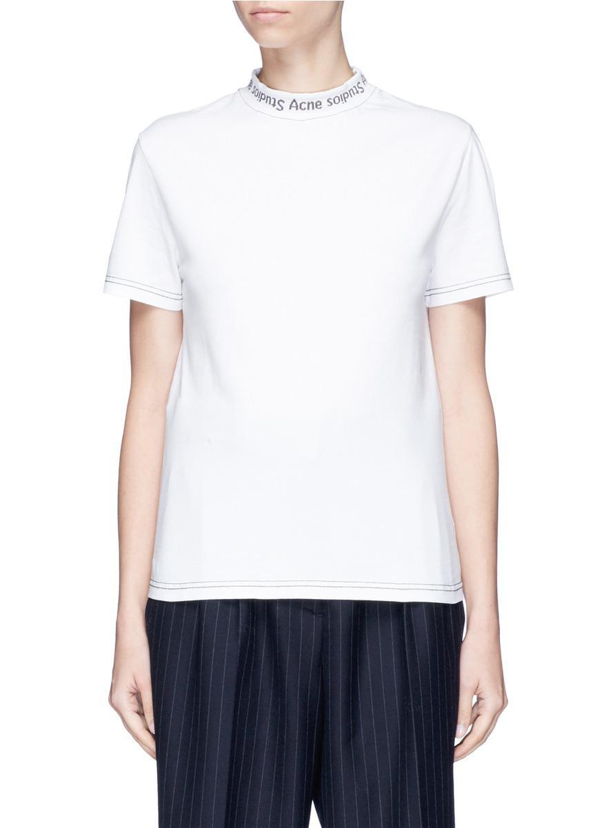 Cheap Sale Visa Payment Real Sale Online Acne Studios Woman Onya Wave Intarsia-knit Top White Size XS Acne Studios QFGbJZHKI