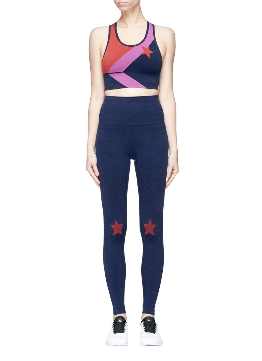 870b2c6c9a Lyst - LNDR Star Jacquard Sports Bra And Leggings Gift Set in Blue