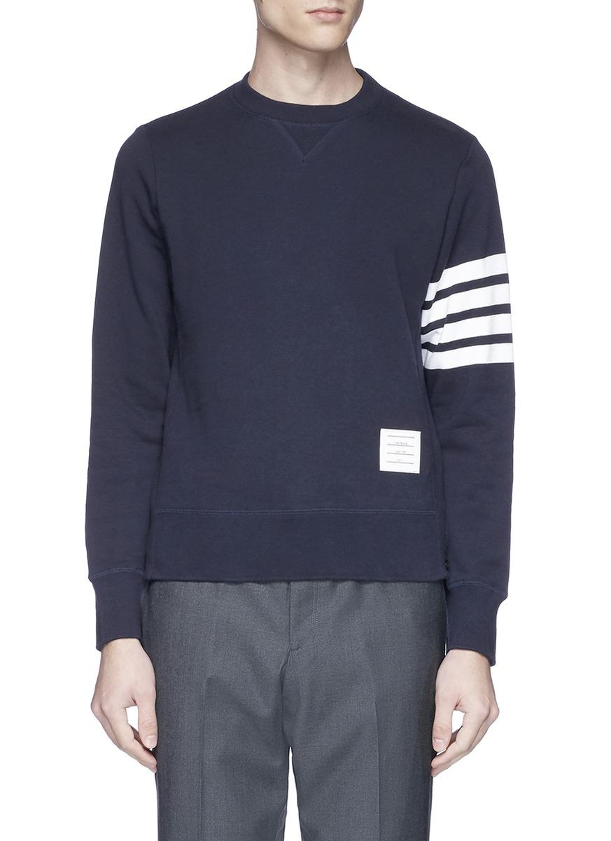 Relaxed Fit Engineered 4-Bar Stripe Cashmere Shell Sweatshirt - Blue Thom Browne Buy Cheap High Quality Outlet 2018 3ZSrnSKt