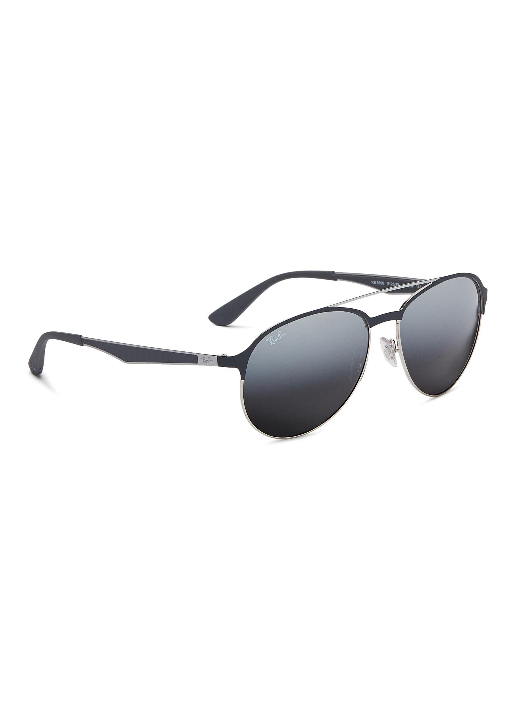 f9a50e15e2 ... best price ray ban gray rb3606 mirror metal aviator sunglasses for men  lyst. view fullscreen
