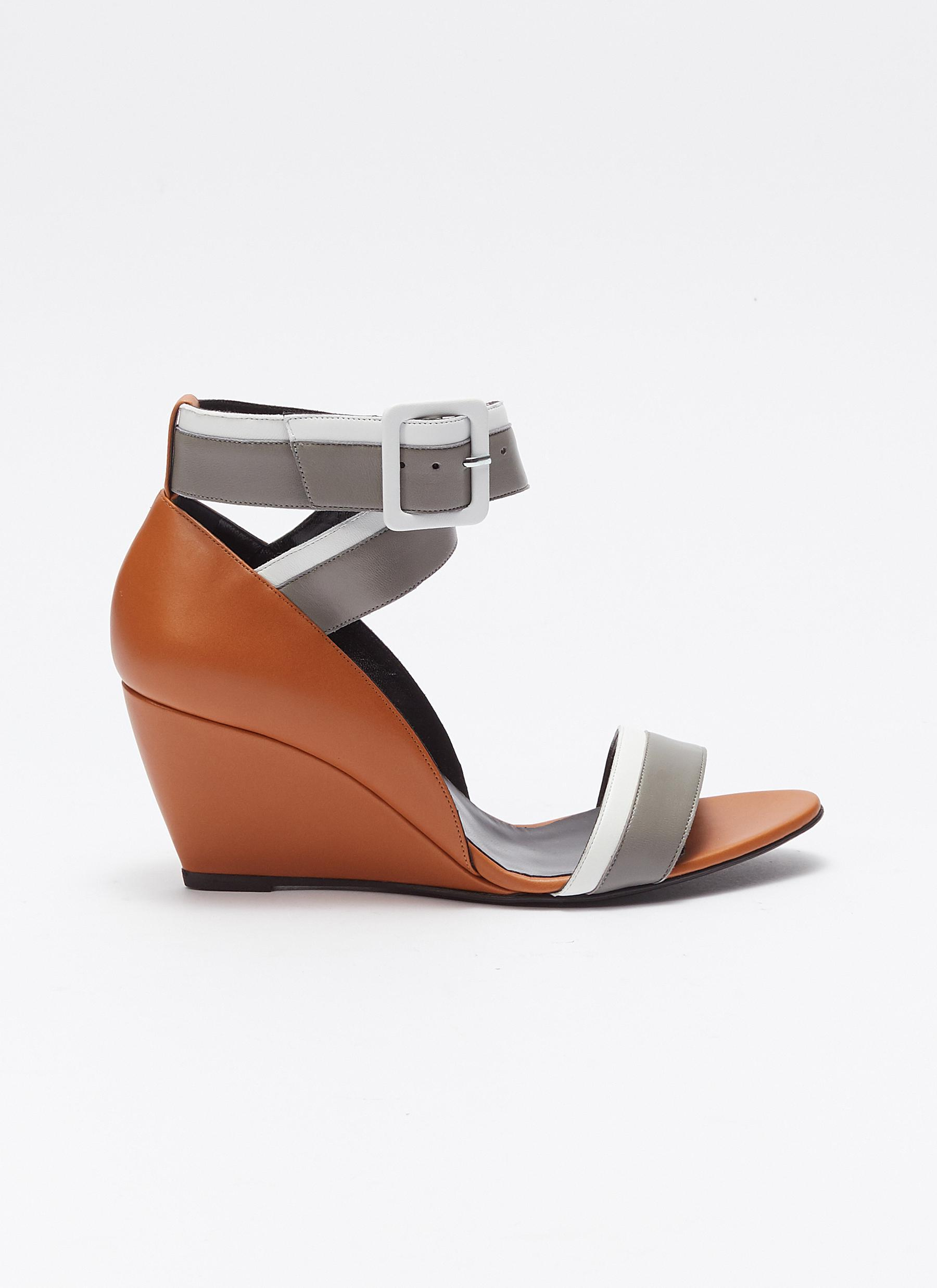 657aedfda35 Pierre Hardy. Men s  alpha  Colourblock Ankle Strap Leather Wedge Sandals