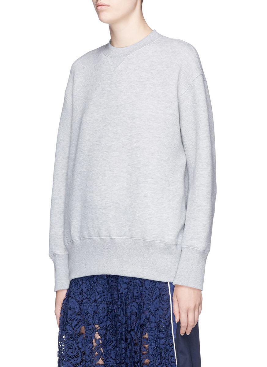 lace-up jumper - Grey sacai Comfortable Fashionable Cheap Online MJ0Lah