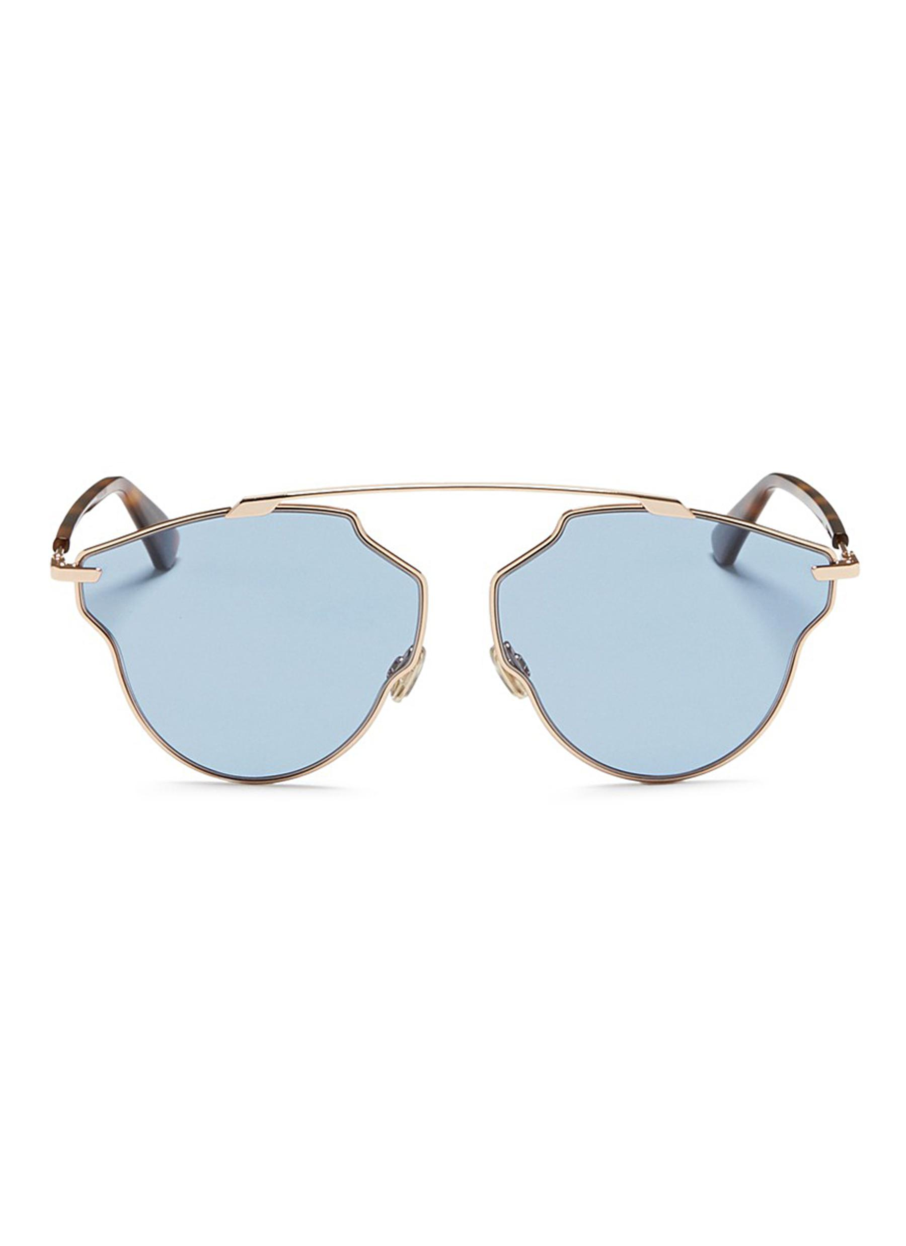608af009ed7 Dior   So Real Pop  Panto Sunglasses in Blue - Lyst