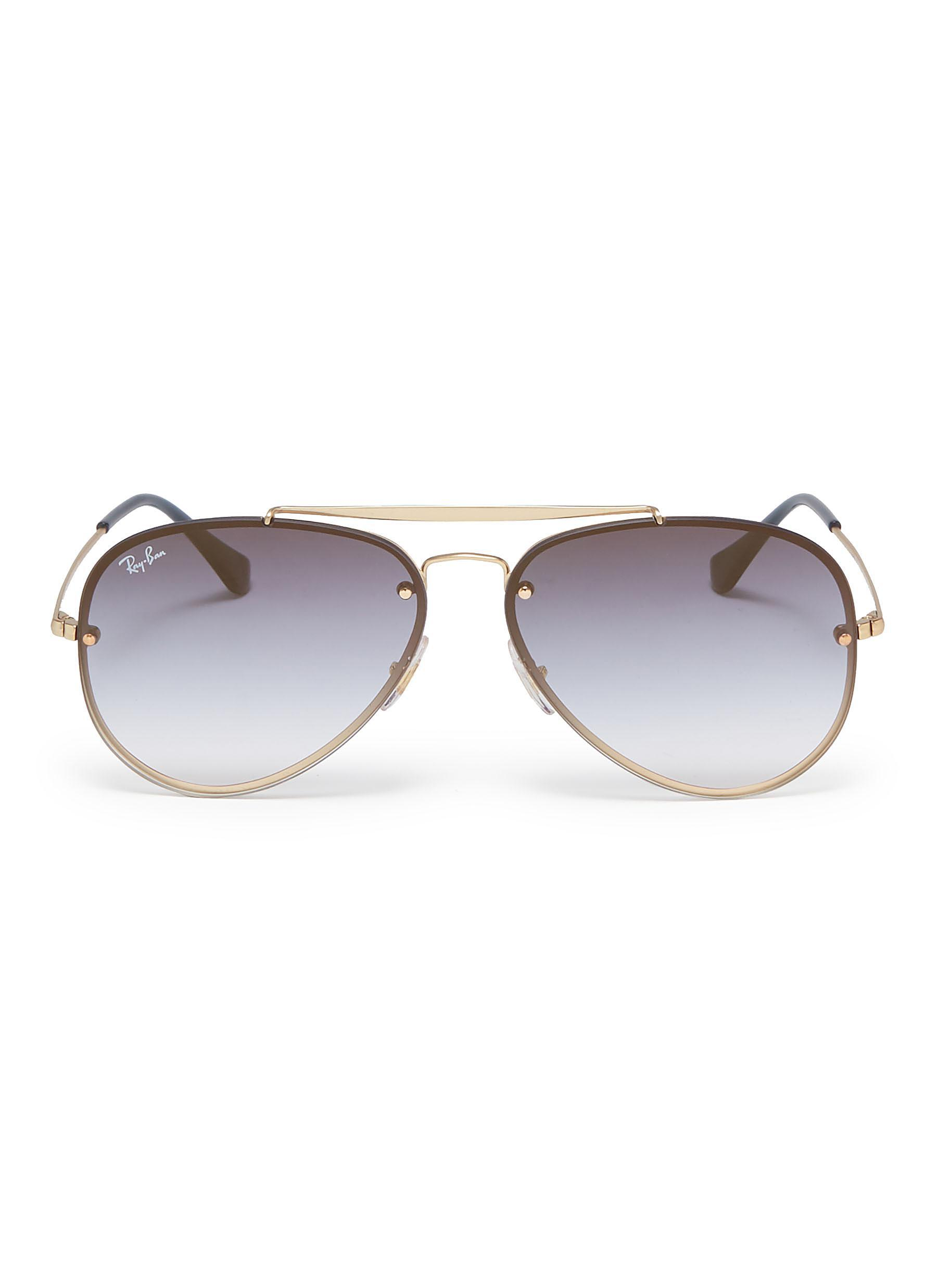 08d0d55bf7 Ray-Ban  blaze  Metal Aviator Sunglasses in Metallic for Men - Lyst