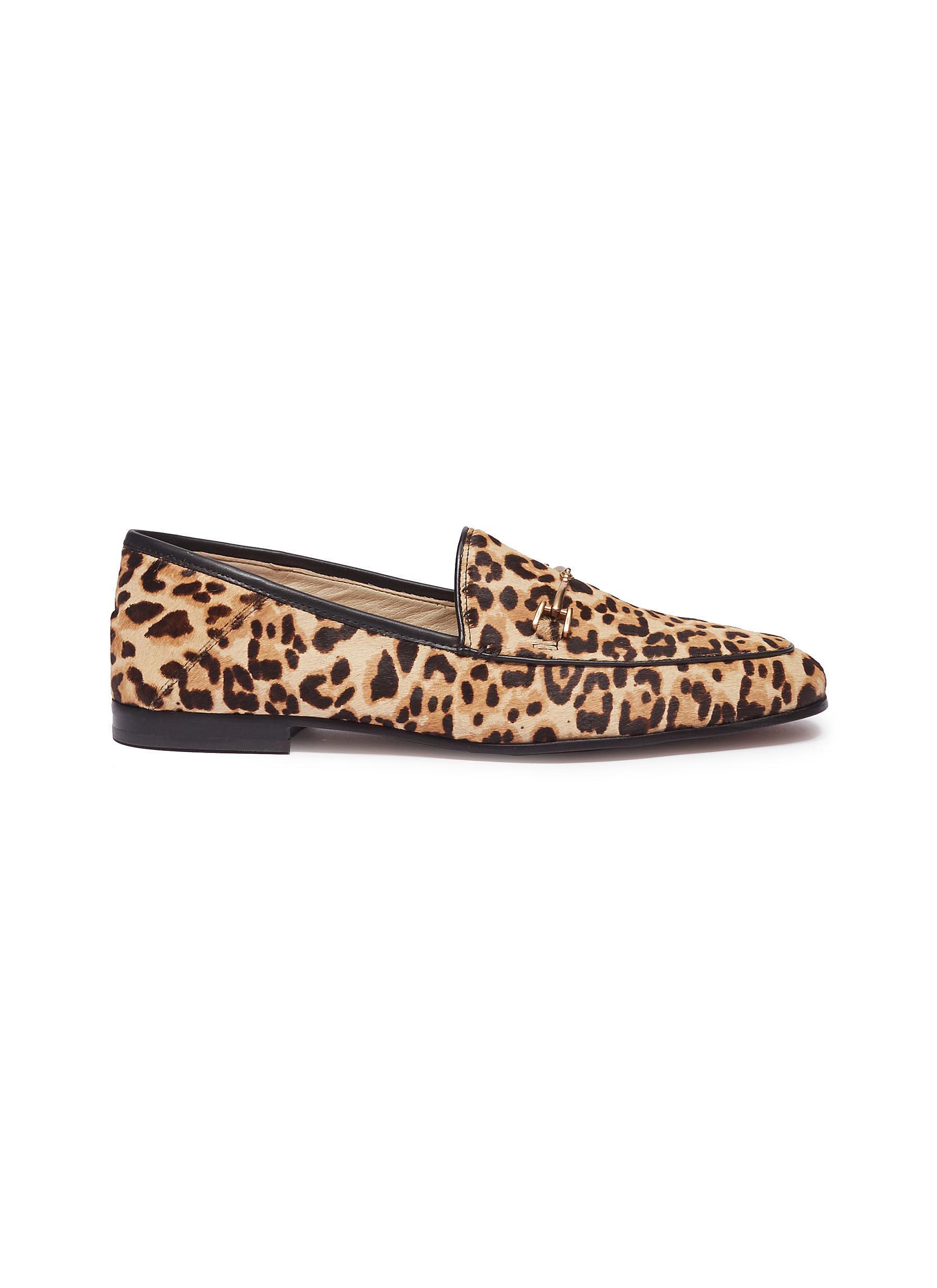 2b762eaf2292 Lyst - Sam Edelman  lorraine  Horsebit Leopard Print Cow Hair Step ...
