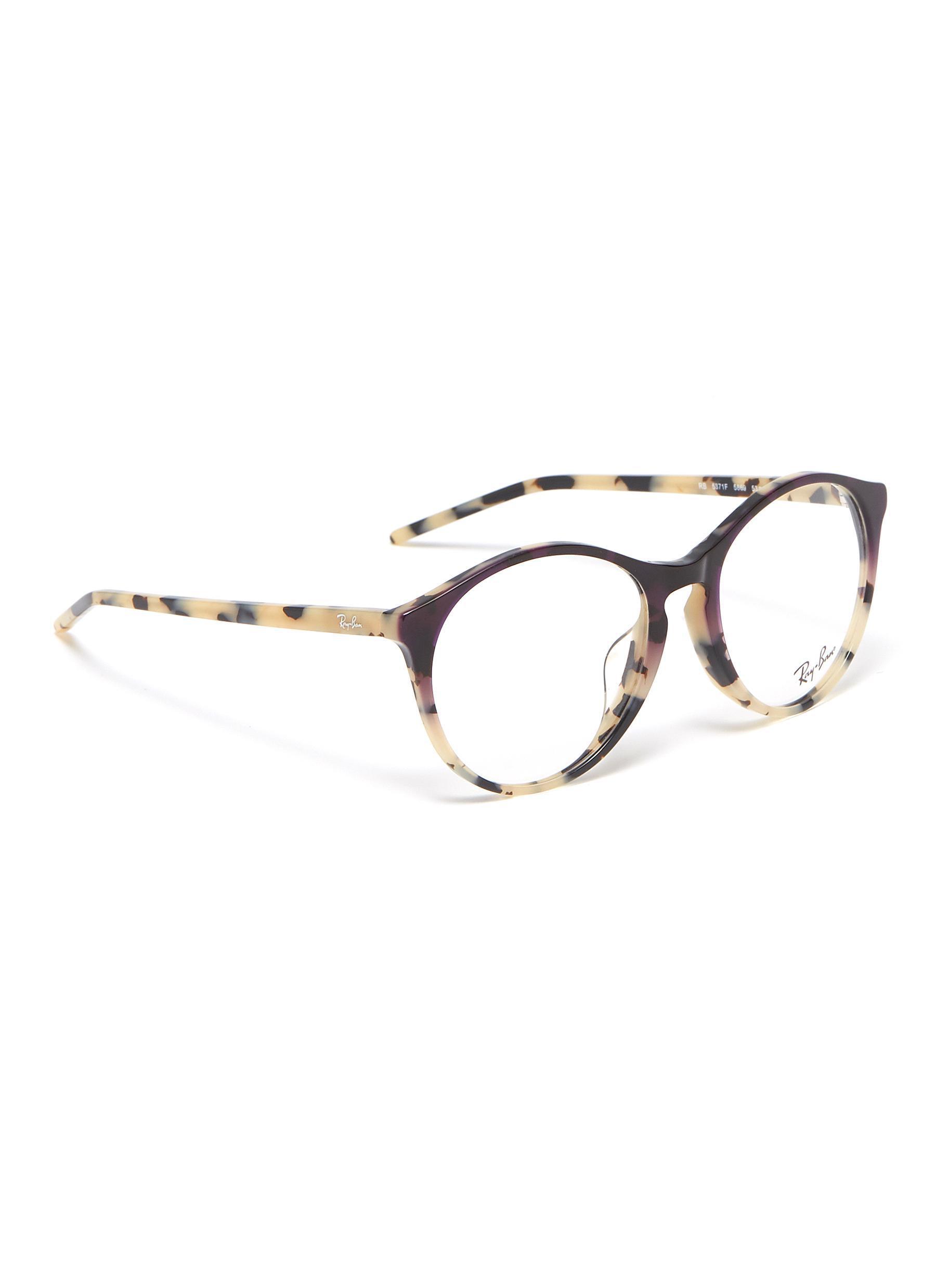 372204ec7f Ray-Ban  rx5371  Tortoiseshell Acetate Panto Optical Glasses - Lyst