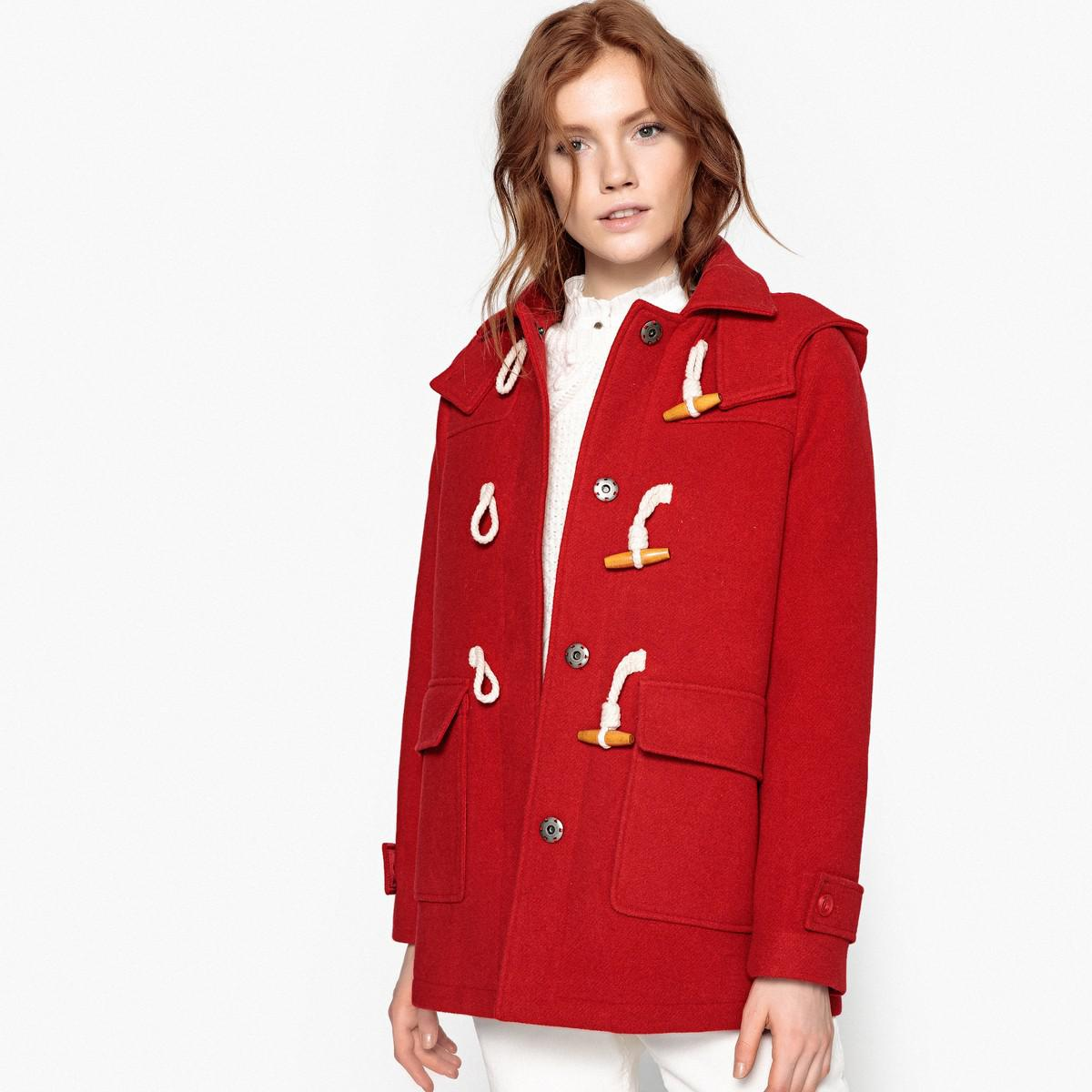 dessins attrayants vente discount sélectionner pour véritable Lyst - La Redoute Mid-length Hooded Winter Duffle Coat in Red