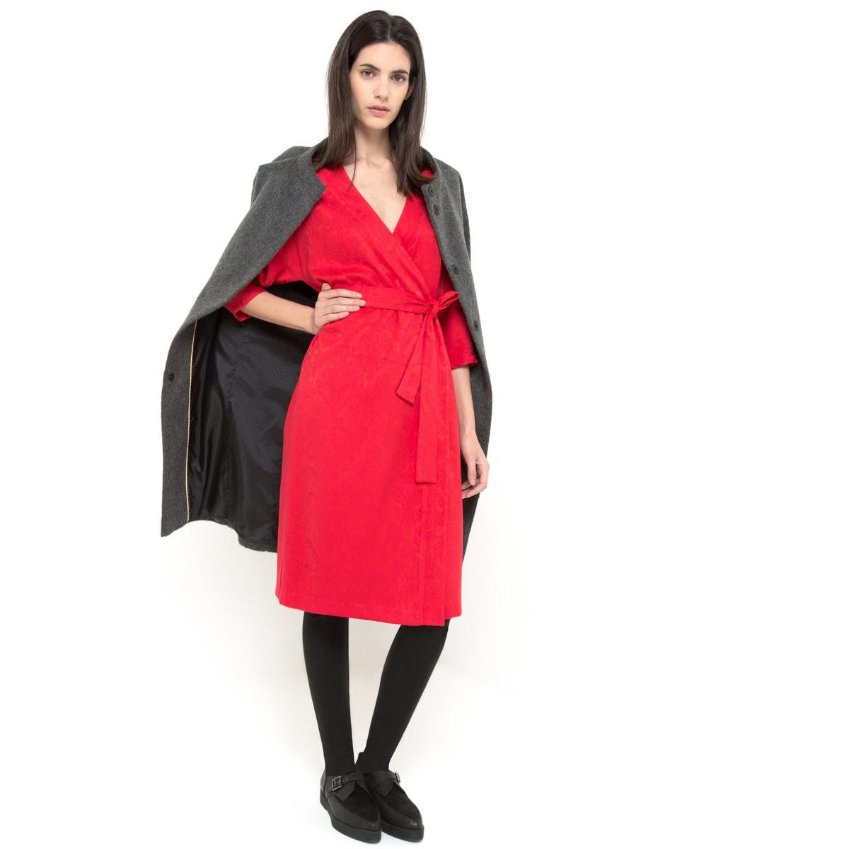 Robe rouge laura clement la redoute