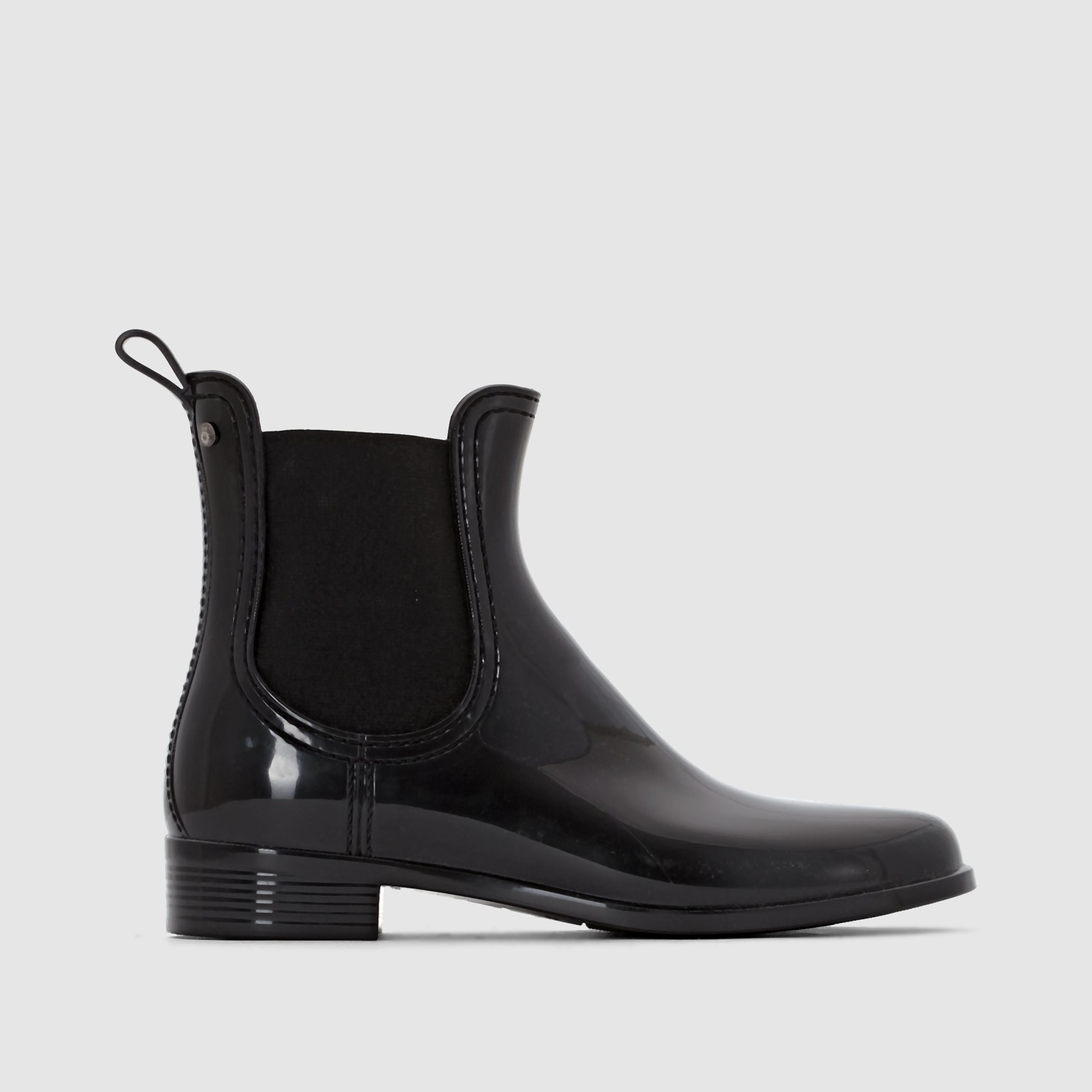 lemon jelly comfy chelsea wellington boots in black lyst