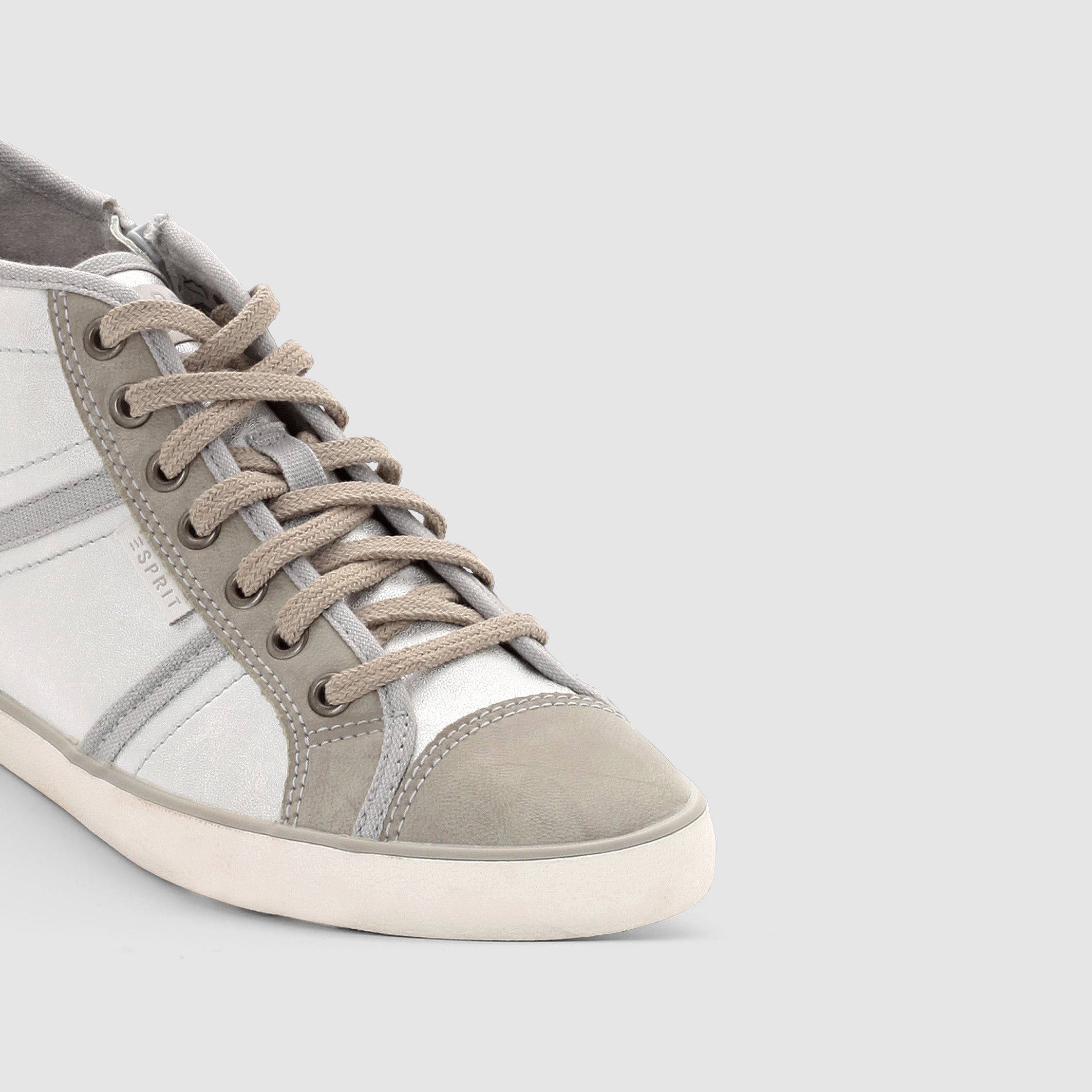 esprit high top trainers in gray lyst. Black Bedroom Furniture Sets. Home Design Ideas