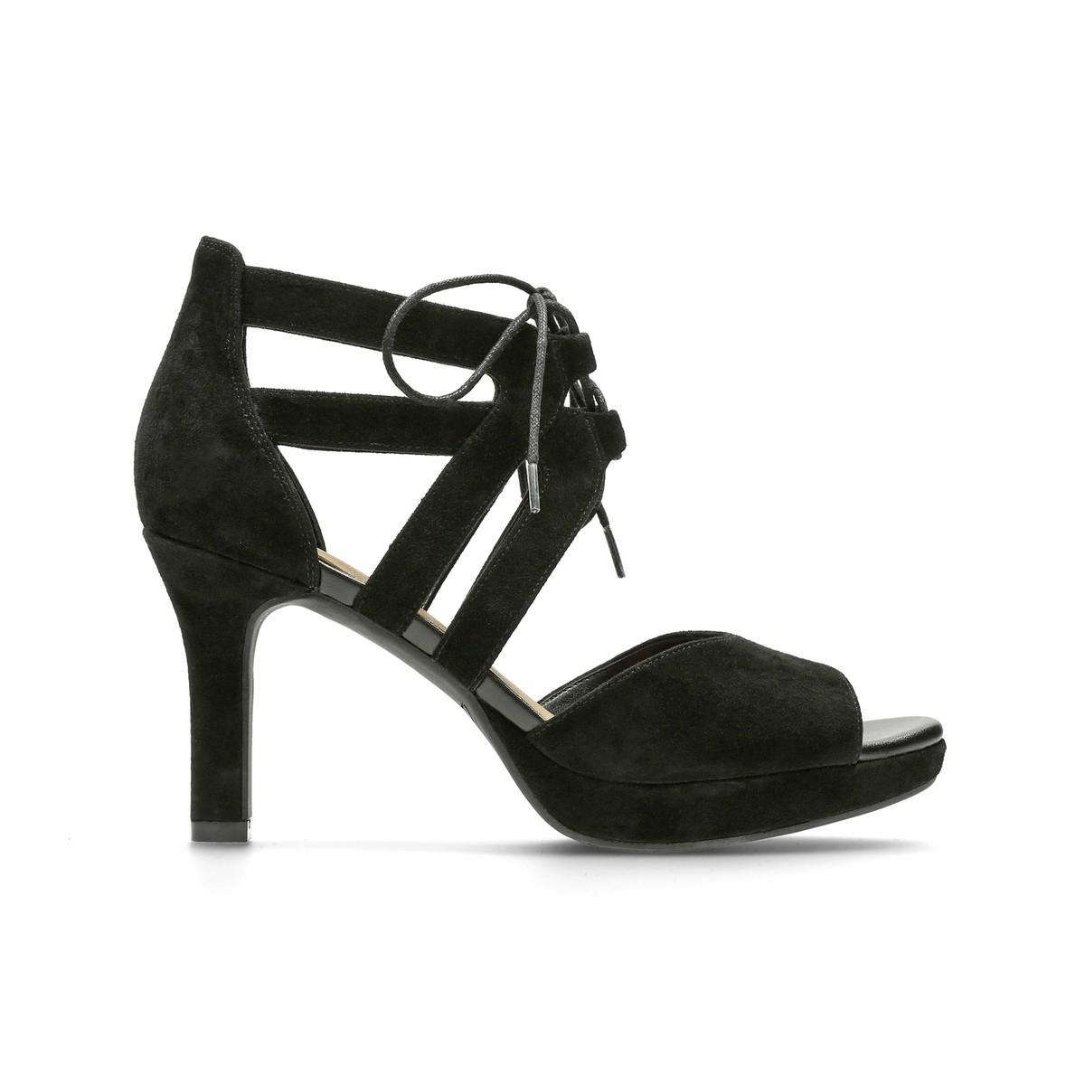 Lyst Clarks Mayra Ellie Suede Leather Sandals In Black