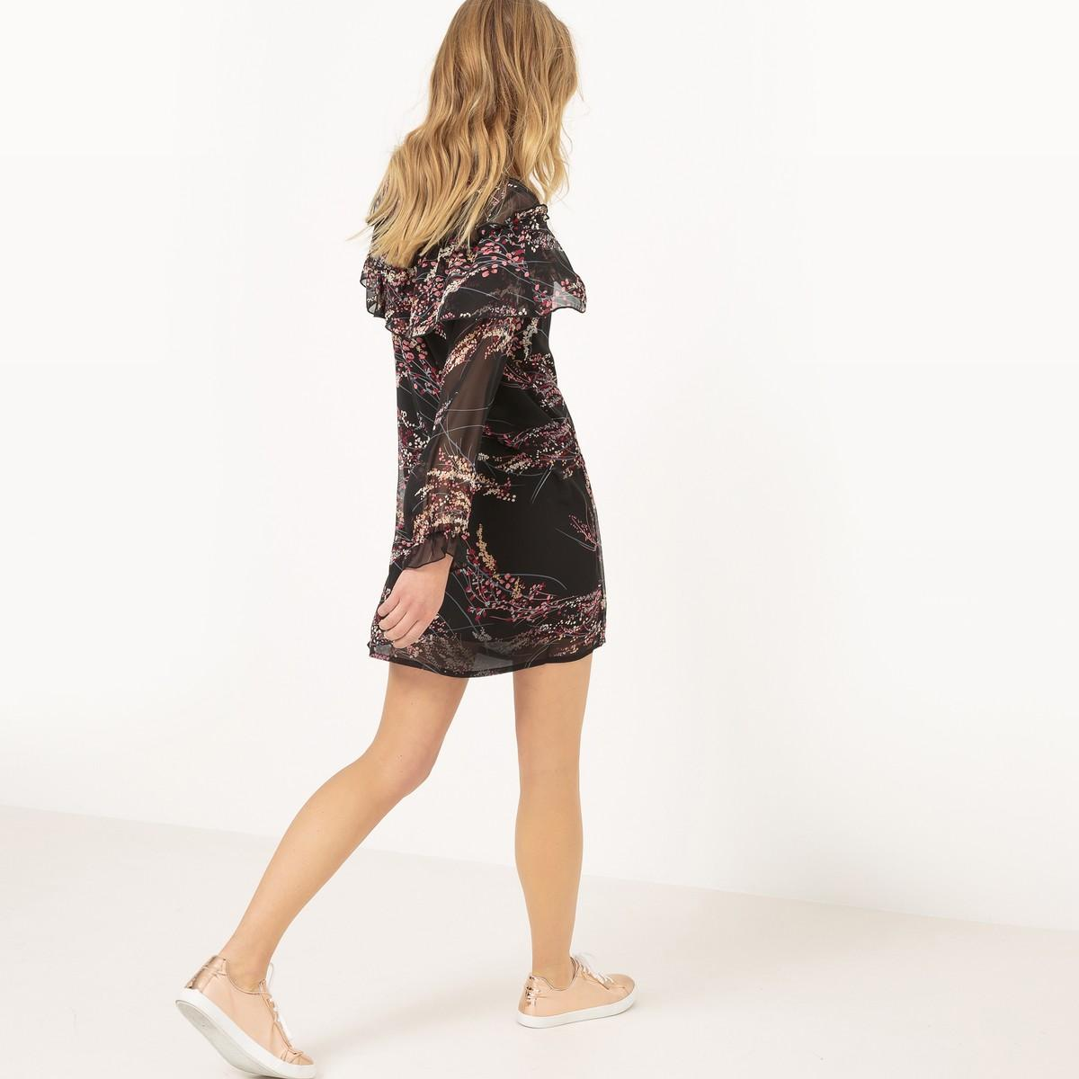 Lyst la redoute robe longueur genou manches longues in for Robe longueur genou