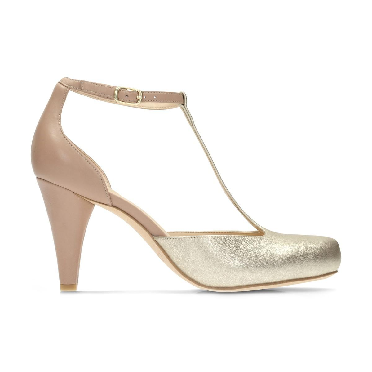 CLARKS Dalia Tulip Leather T-Bar Shoes under $60 for sale with paypal sale online factory outlet cheap price low price fee shipping online reliable Ivc6b8E