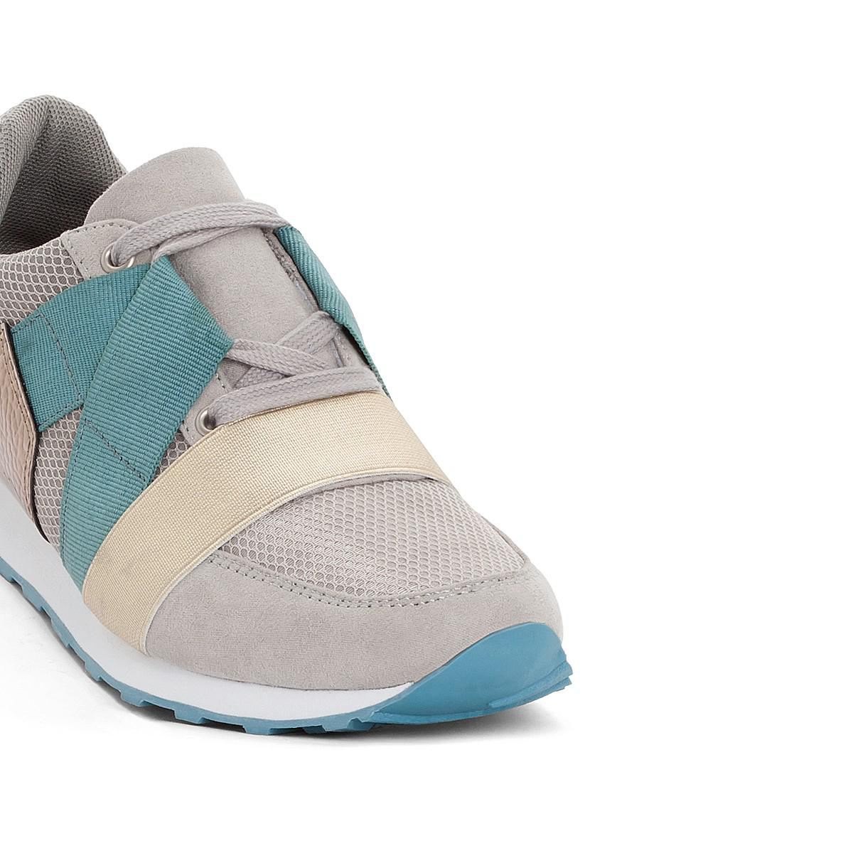 51cd742c9b9e9 Lyst - La Redoute Ultra Light Trainers With Elastic Detail in Gray ...