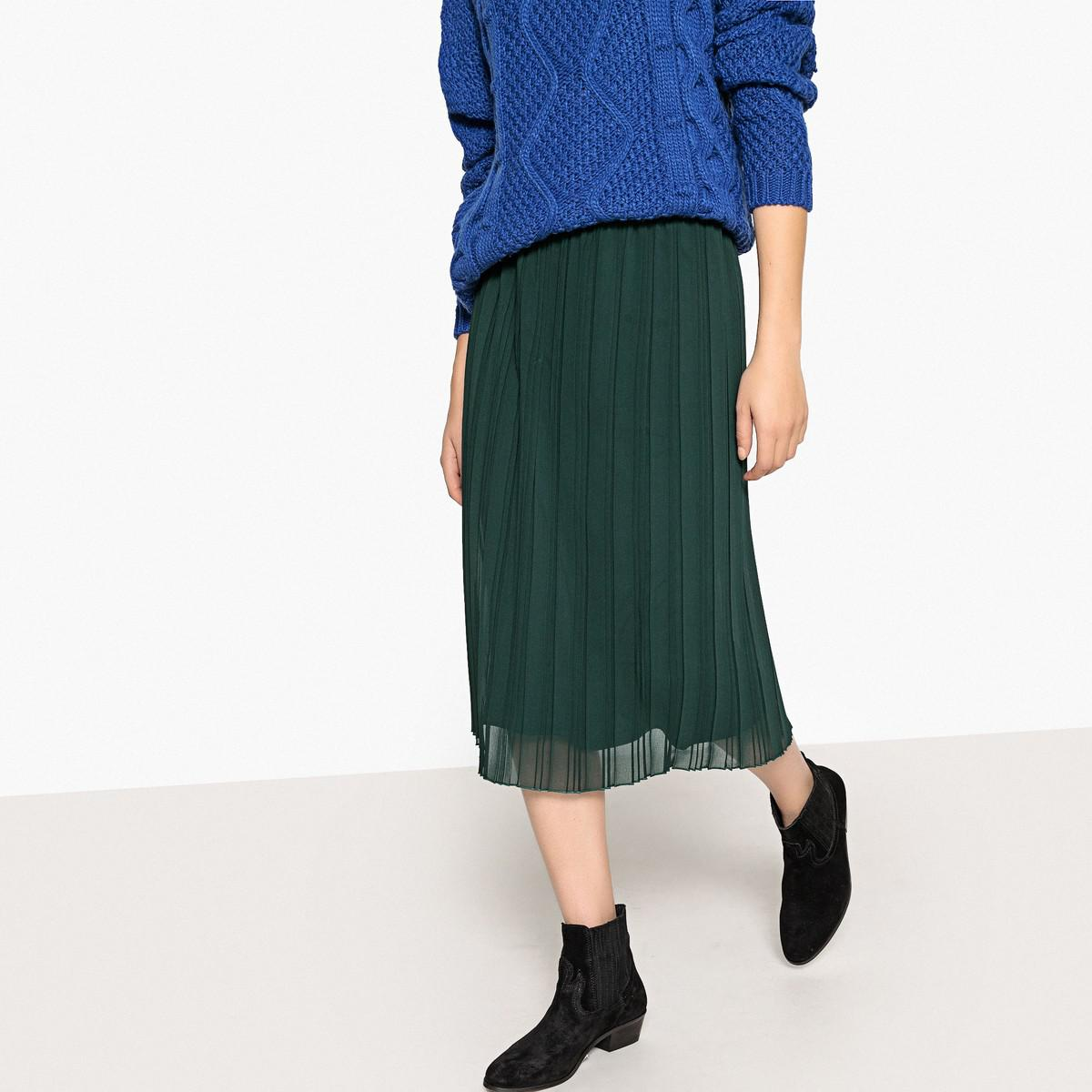 833f0ab2ec Lyst - La Redoute Sporty Pleated Skirt With Elasticated Waist in Green