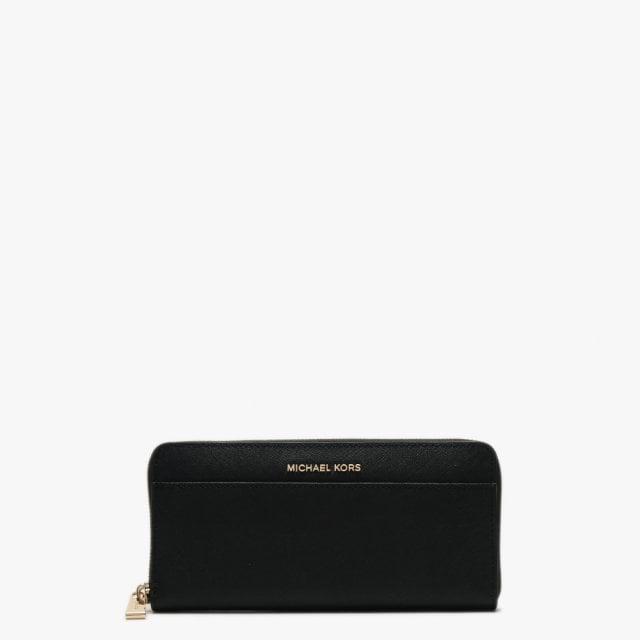b87423c0873e Michael Kors - Zip Around Continental Pocket Black Saffiano Leather Wall -  Lyst. View fullscreen